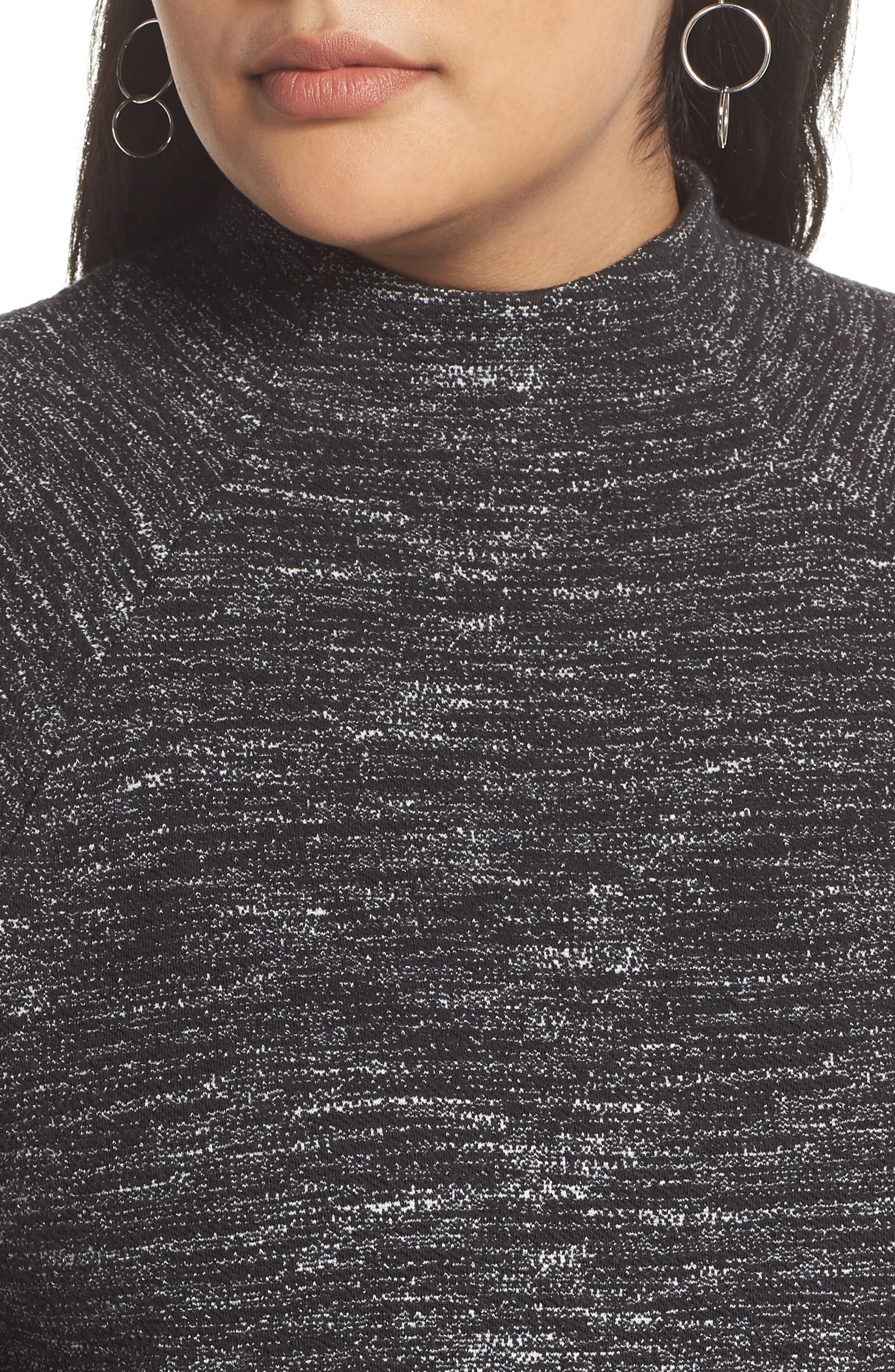 Bell Sleeve Ponte Top,                             Alternate thumbnail 4, color,                             001