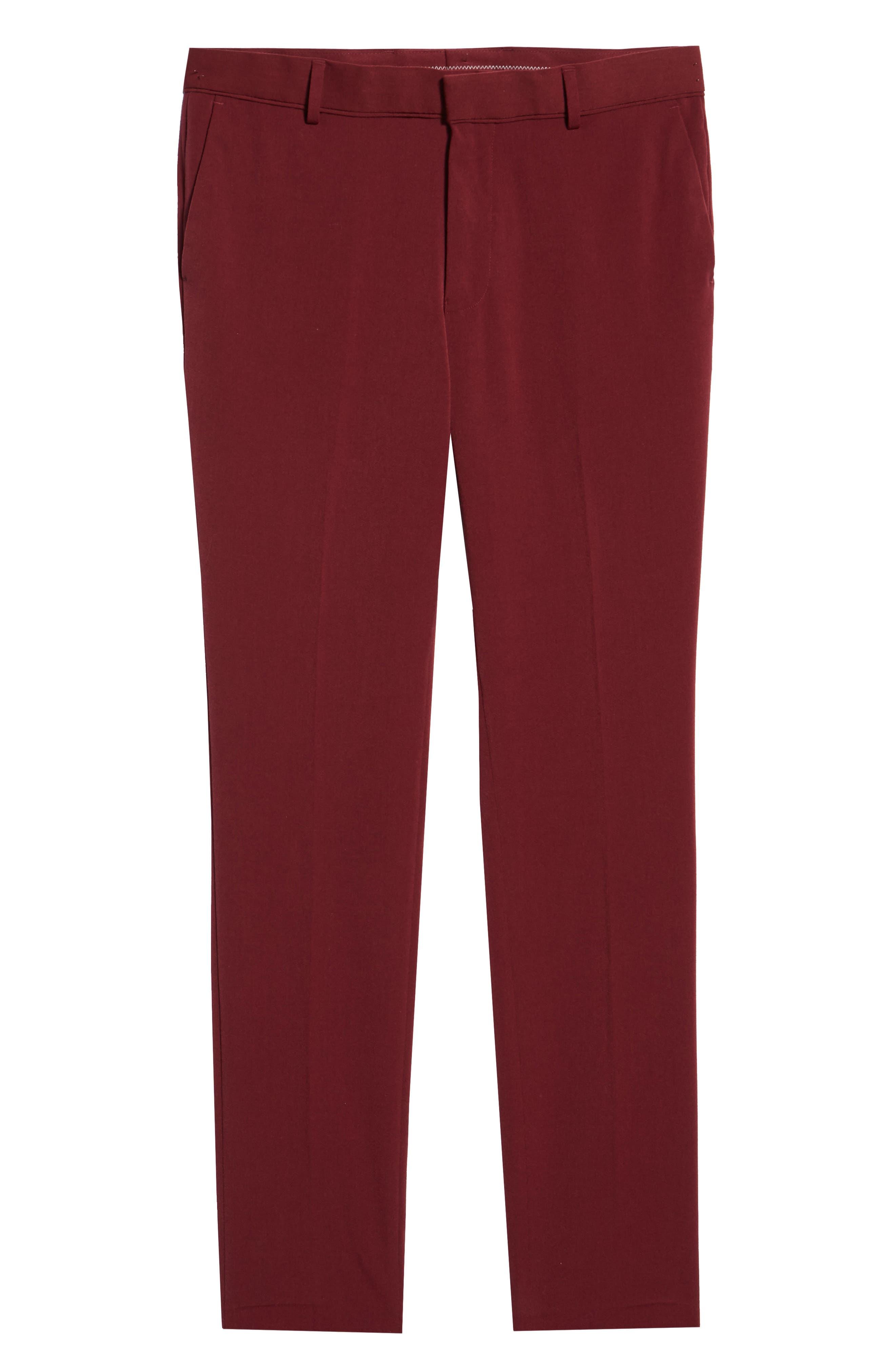 Skinny Fit Trousers,                             Alternate thumbnail 6, color,                             PURPLE
