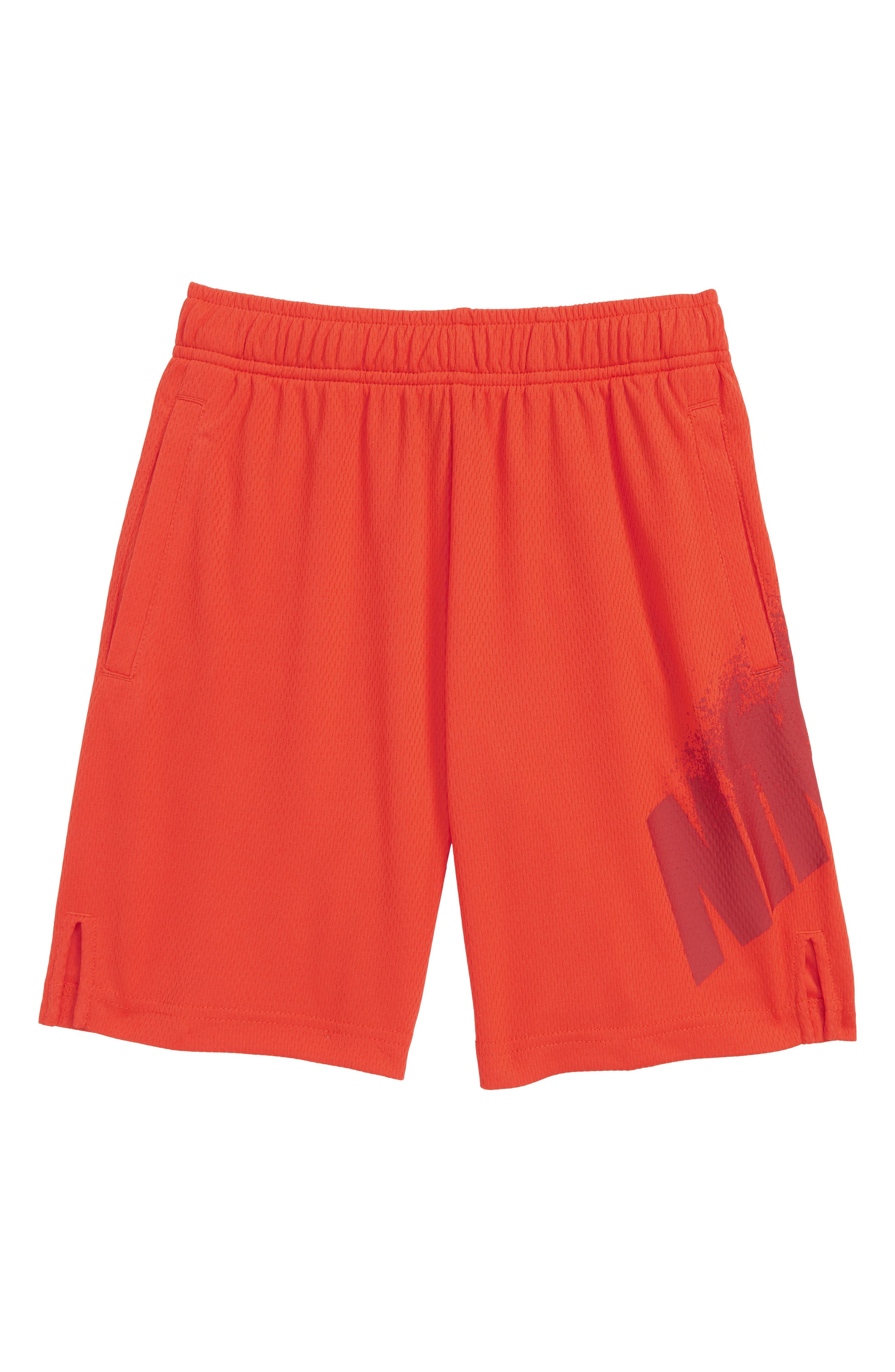 Dry GFX Athletic Shorts,                         Main,                         color, HABANERO RED/ GYM RED