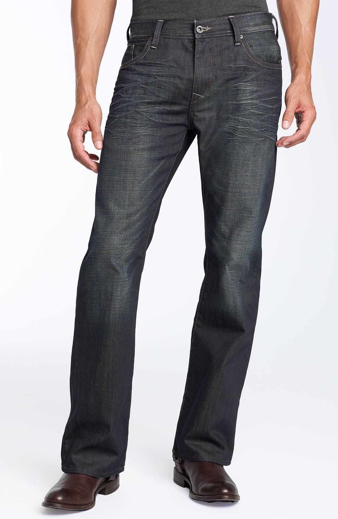 'Leo' Boot-Cut Jeans,                             Alternate thumbnail 2, color,                             400