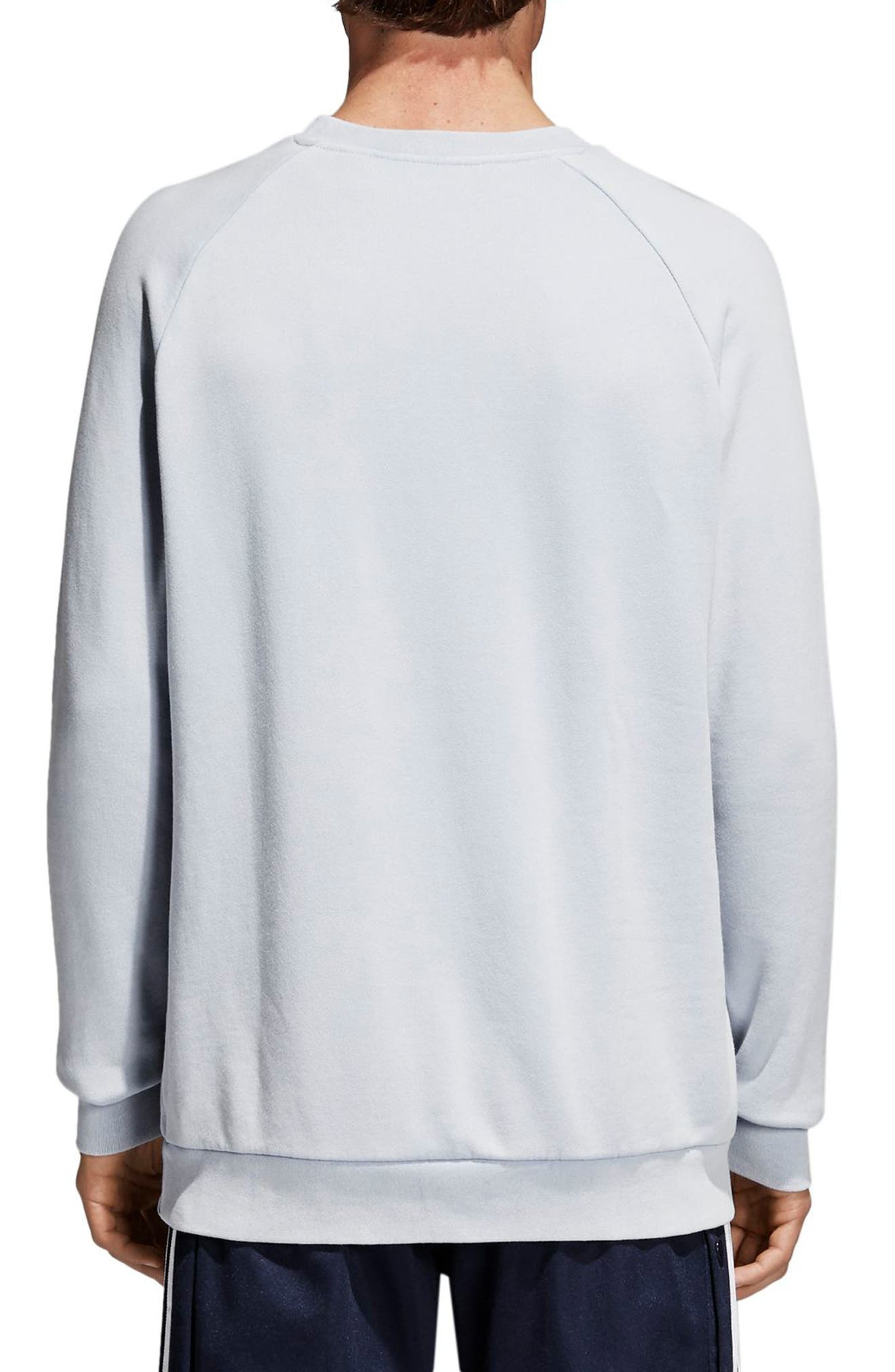 Trefoil Sweatshirt,                             Alternate thumbnail 3, color,