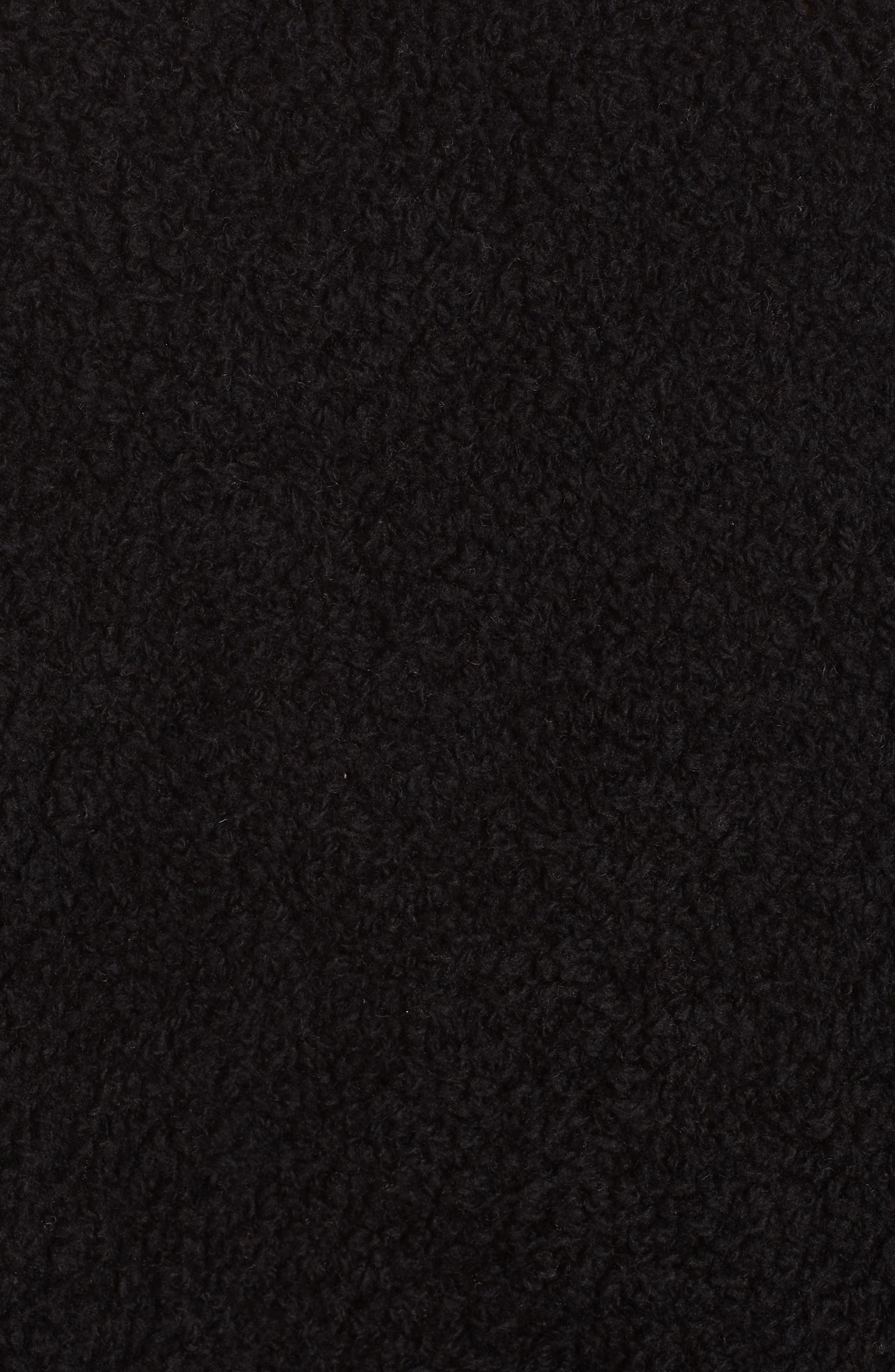 Teddy Wool Blend Cardigan,                             Alternate thumbnail 5, color,                             BLACK