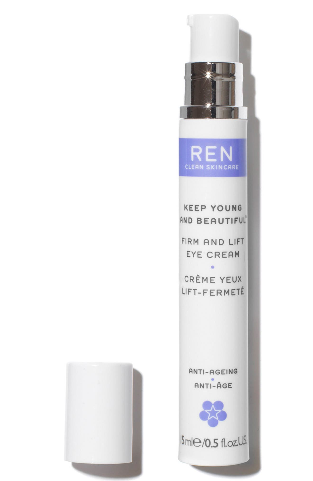 SPACE.NK.apothecary REN Keep Young & Beautiful Anti-Ageing Eye Cream,                             Alternate thumbnail 3, color,                             000