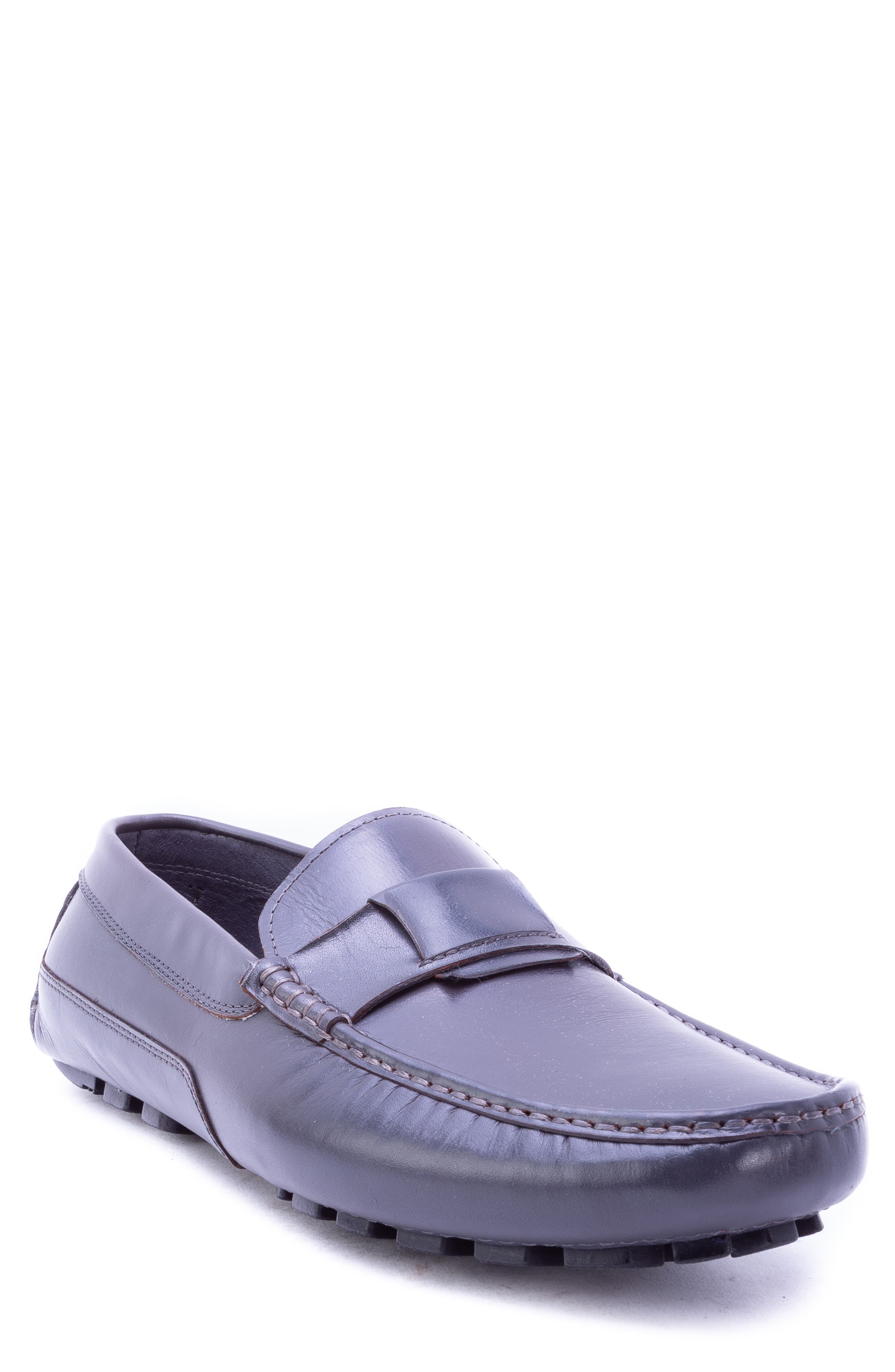 Newton Driving Moccasin,                         Main,                         color, GREY LEATHER