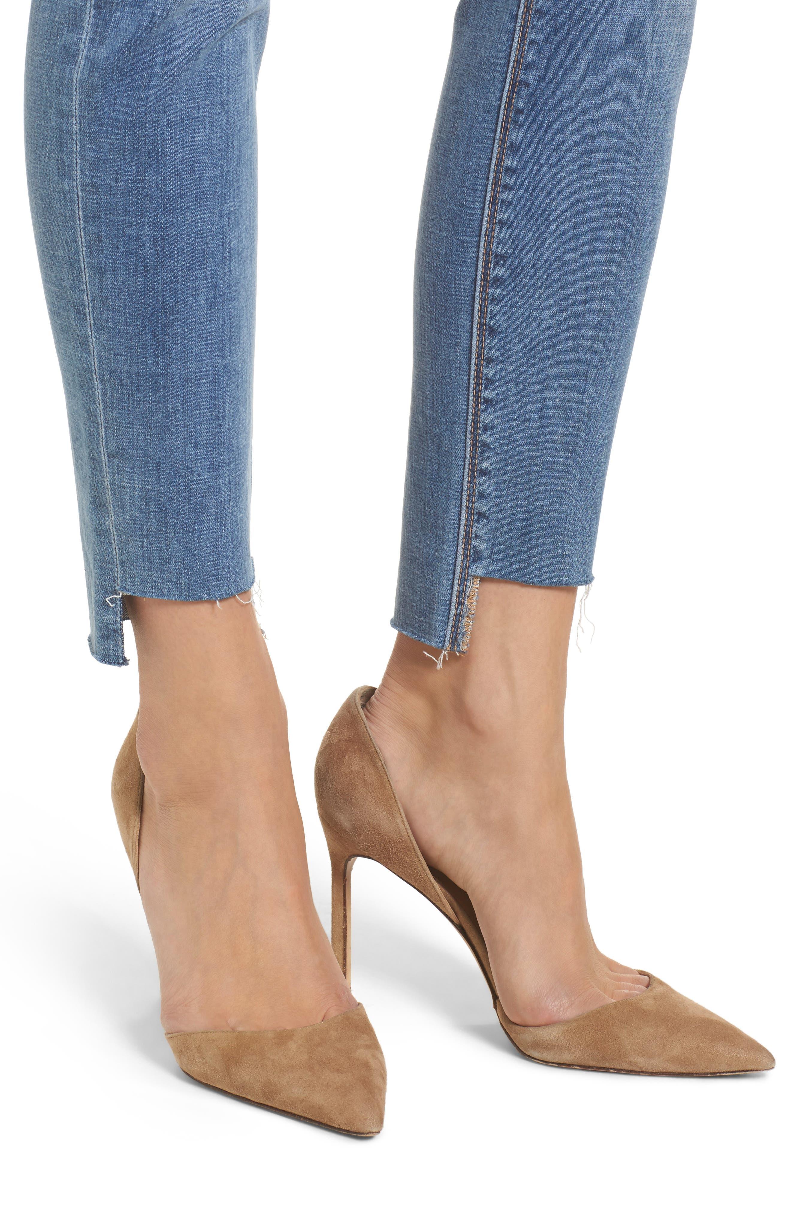 Step Hem Ankle Skinny Jeans,                             Alternate thumbnail 4, color,                             400