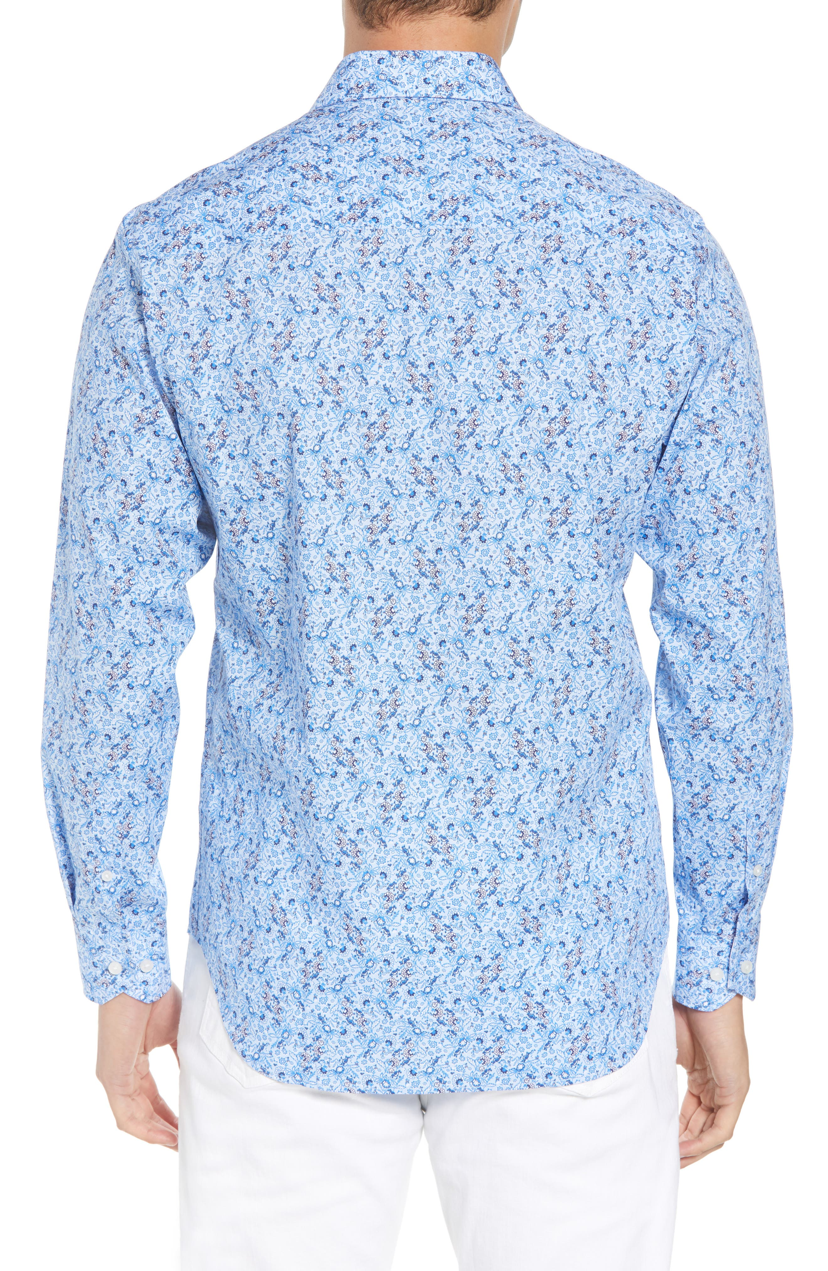 Stewart Regular Fit Floral Sport Shirt,                             Alternate thumbnail 2, color,                             400