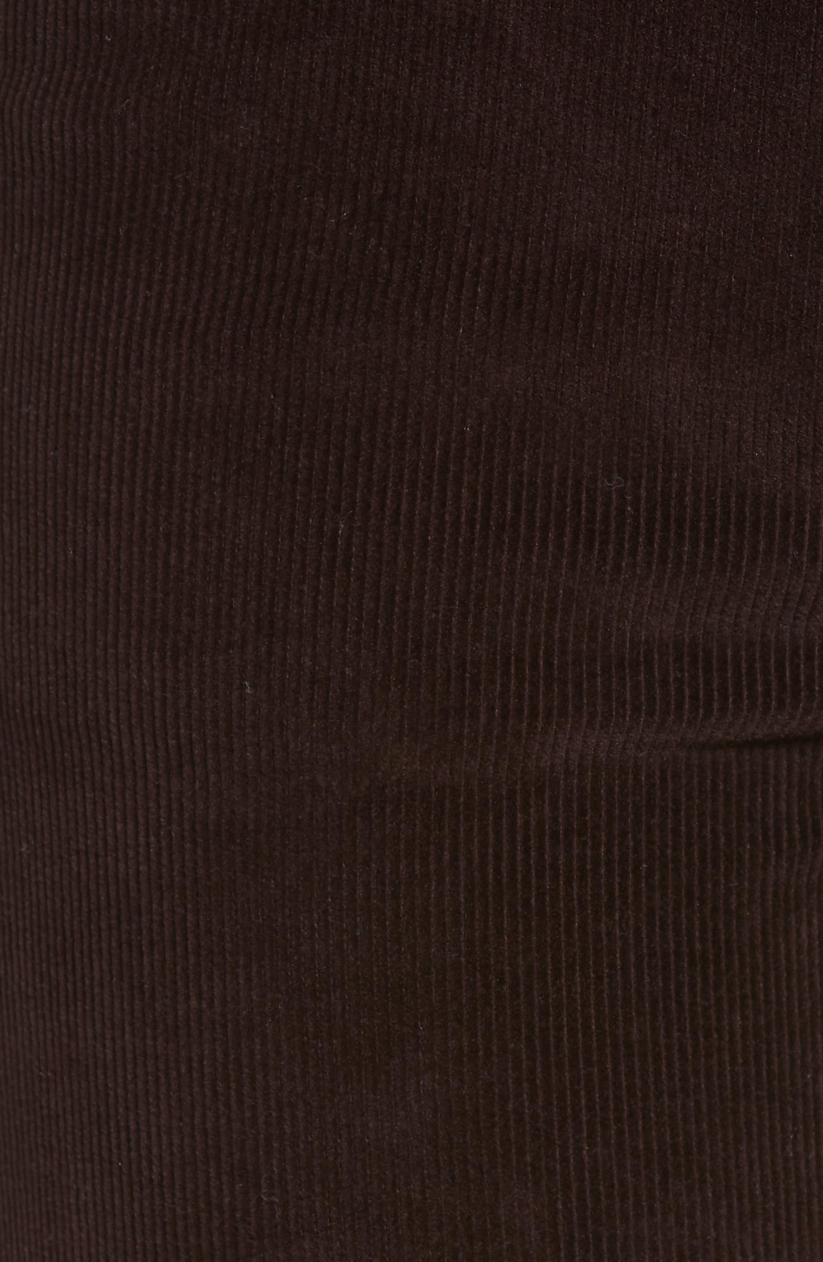 Farrow High Waist Ankle Skinny Corduroy Pants,                             Alternate thumbnail 5, color,                             BIRCH LAKE