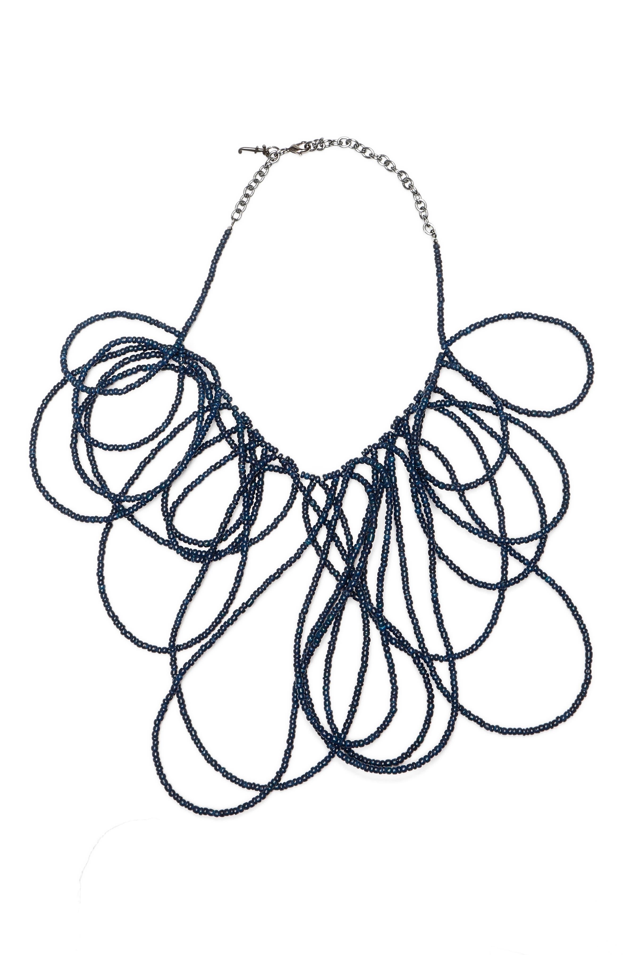 Coconut Bead Multiloop Necklace,                         Main,                         color,