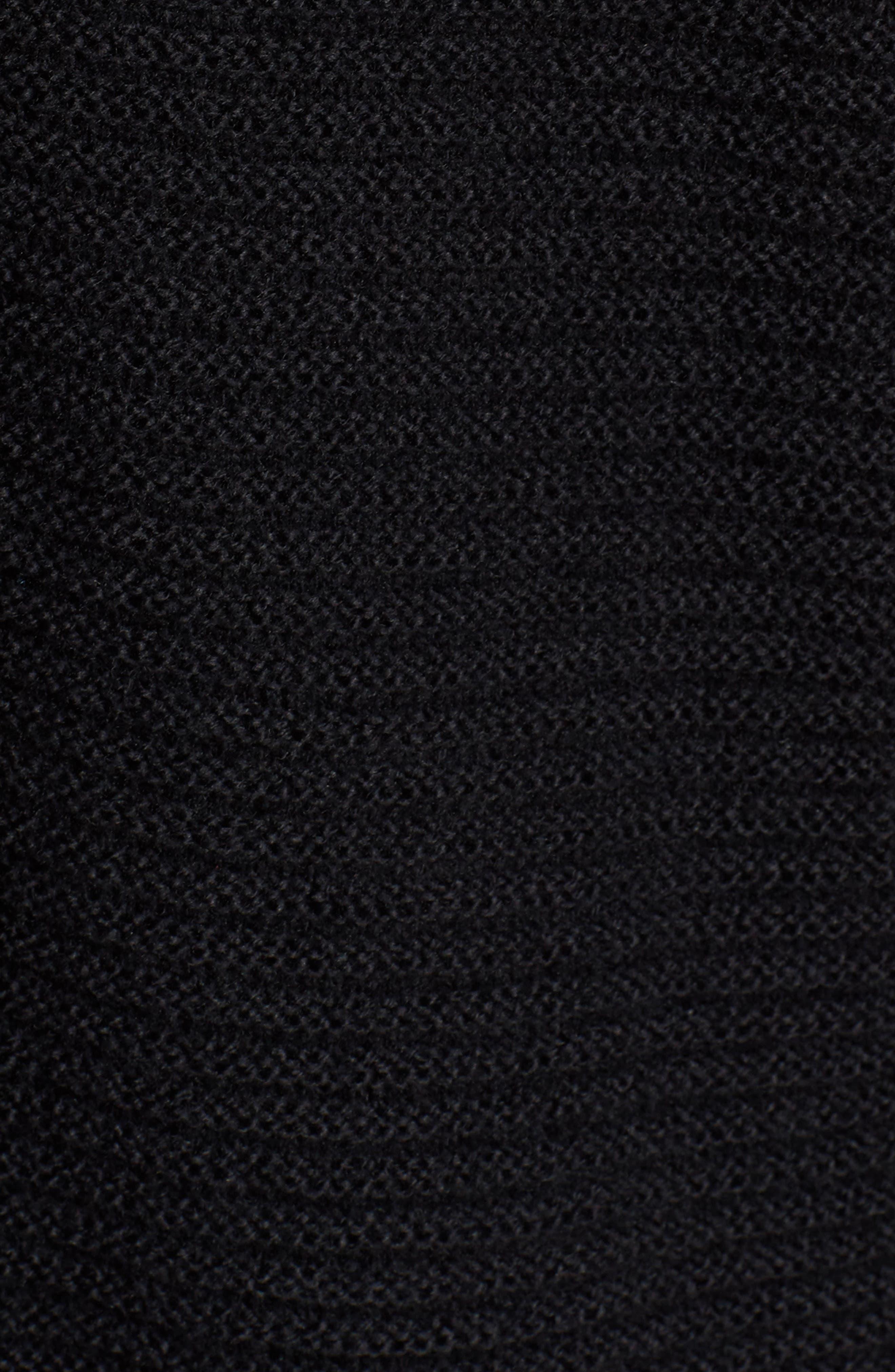 Ribbed Turtleneck Tunic Sweater,                             Alternate thumbnail 6, color,                             BLACK