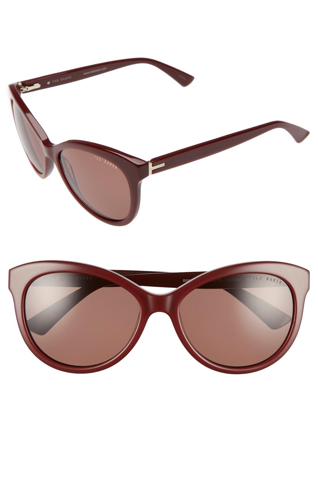 56mm Cat Eye Sunglasses,                             Main thumbnail 3, color,