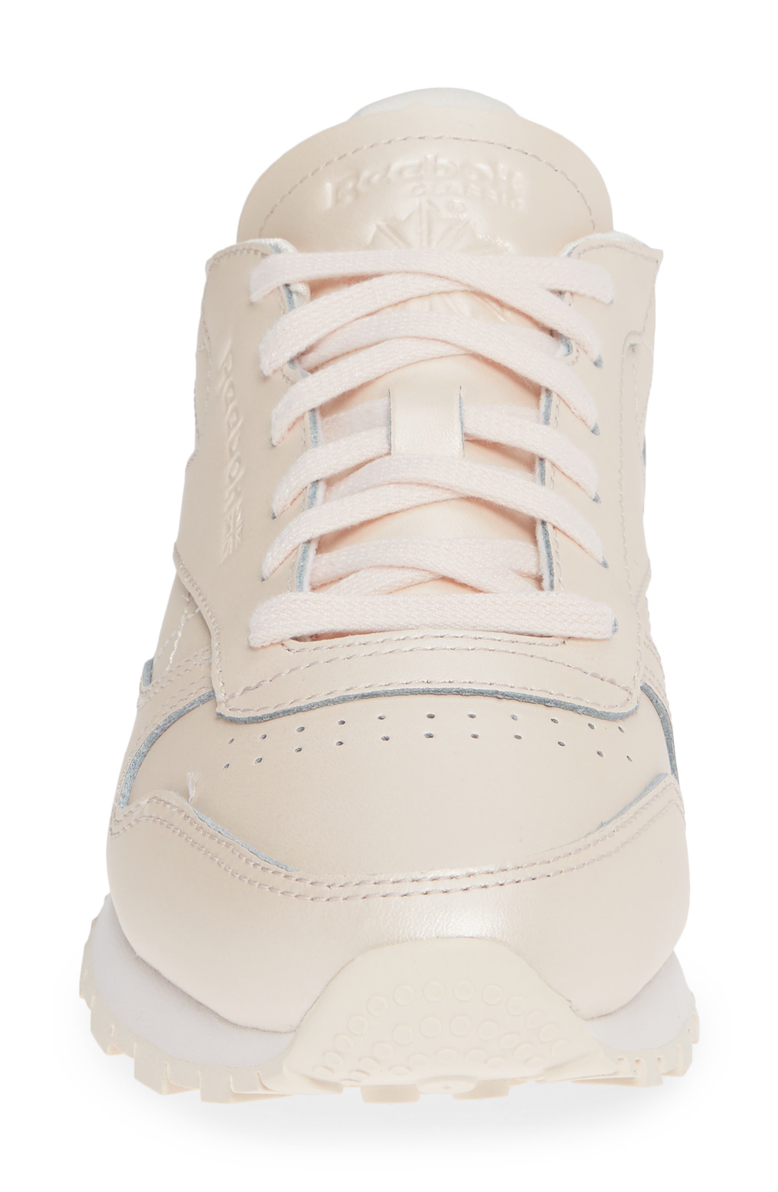 Classic Leather Sneaker,                             Alternate thumbnail 4, color,                             PALE PINK