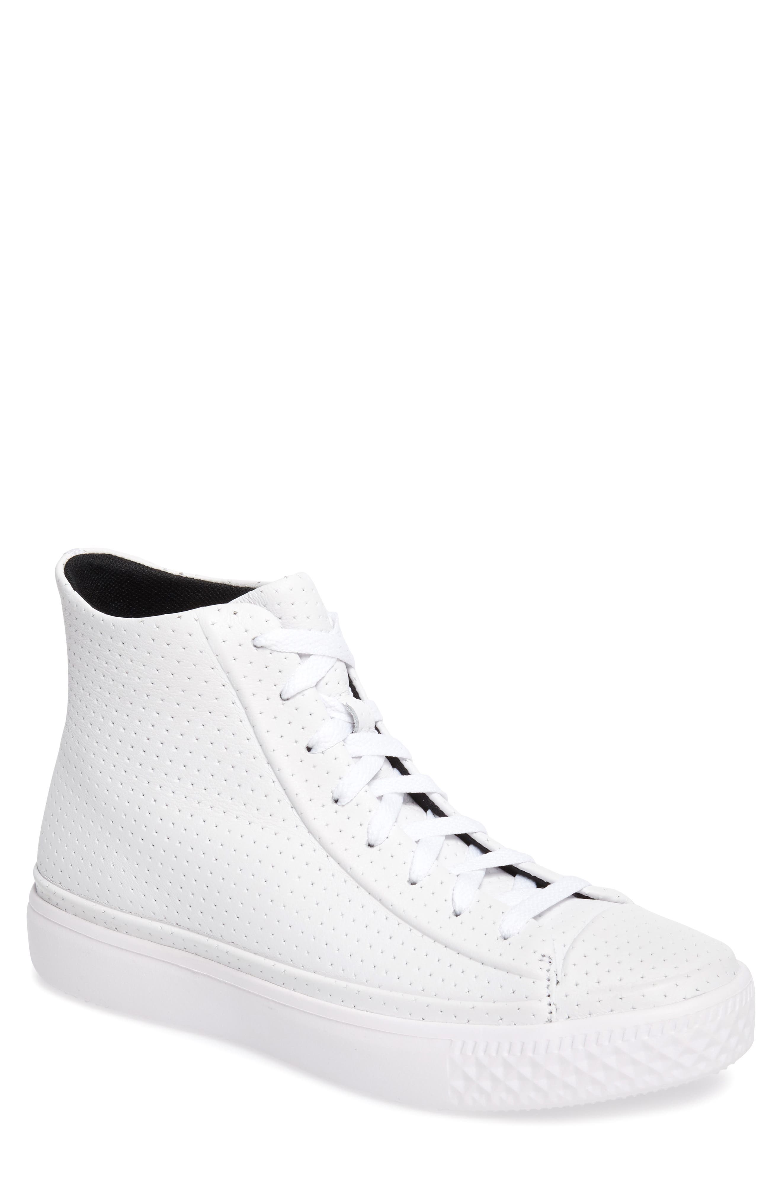 Chuck Taylor<sup>®</sup> All-Star<sup>®</sup> Leather Sneaker,                             Main thumbnail 1, color,                             100