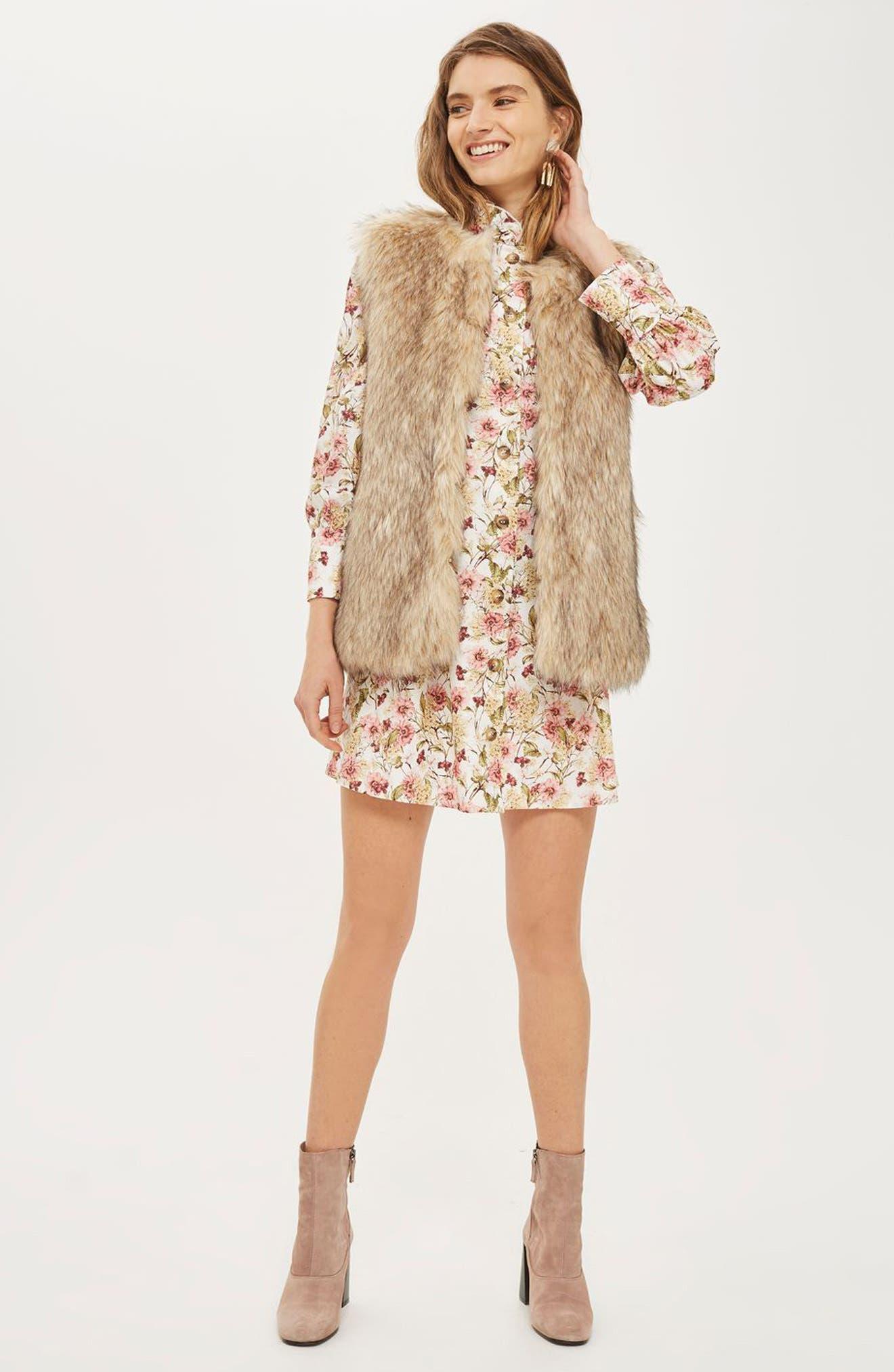 Kendall Faux Fur Jacket,                             Alternate thumbnail 7, color,                             270