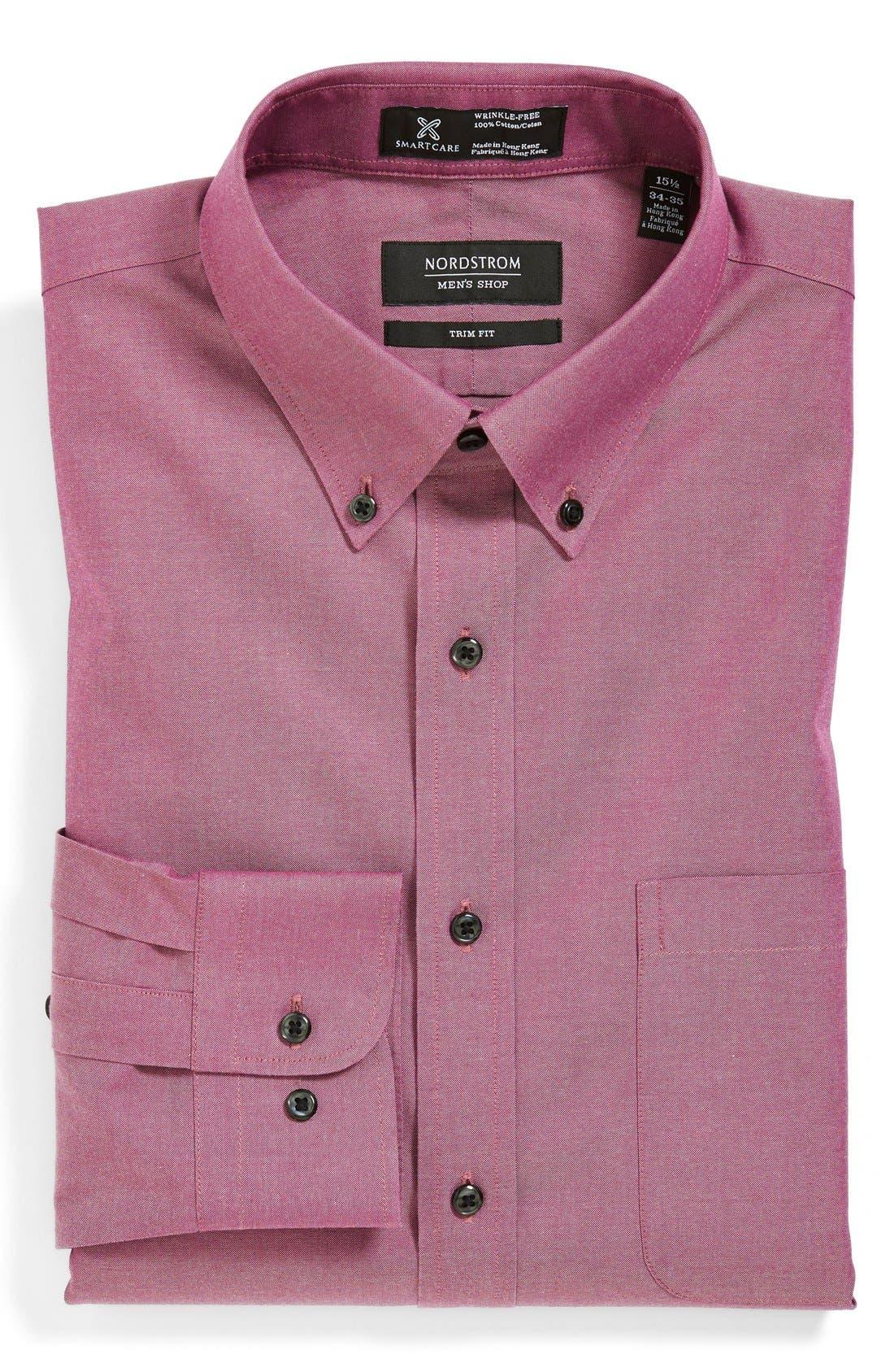 Smartcare<sup>™</sup> Trim Fit Solid Dress Shirt,                             Main thumbnail 16, color,