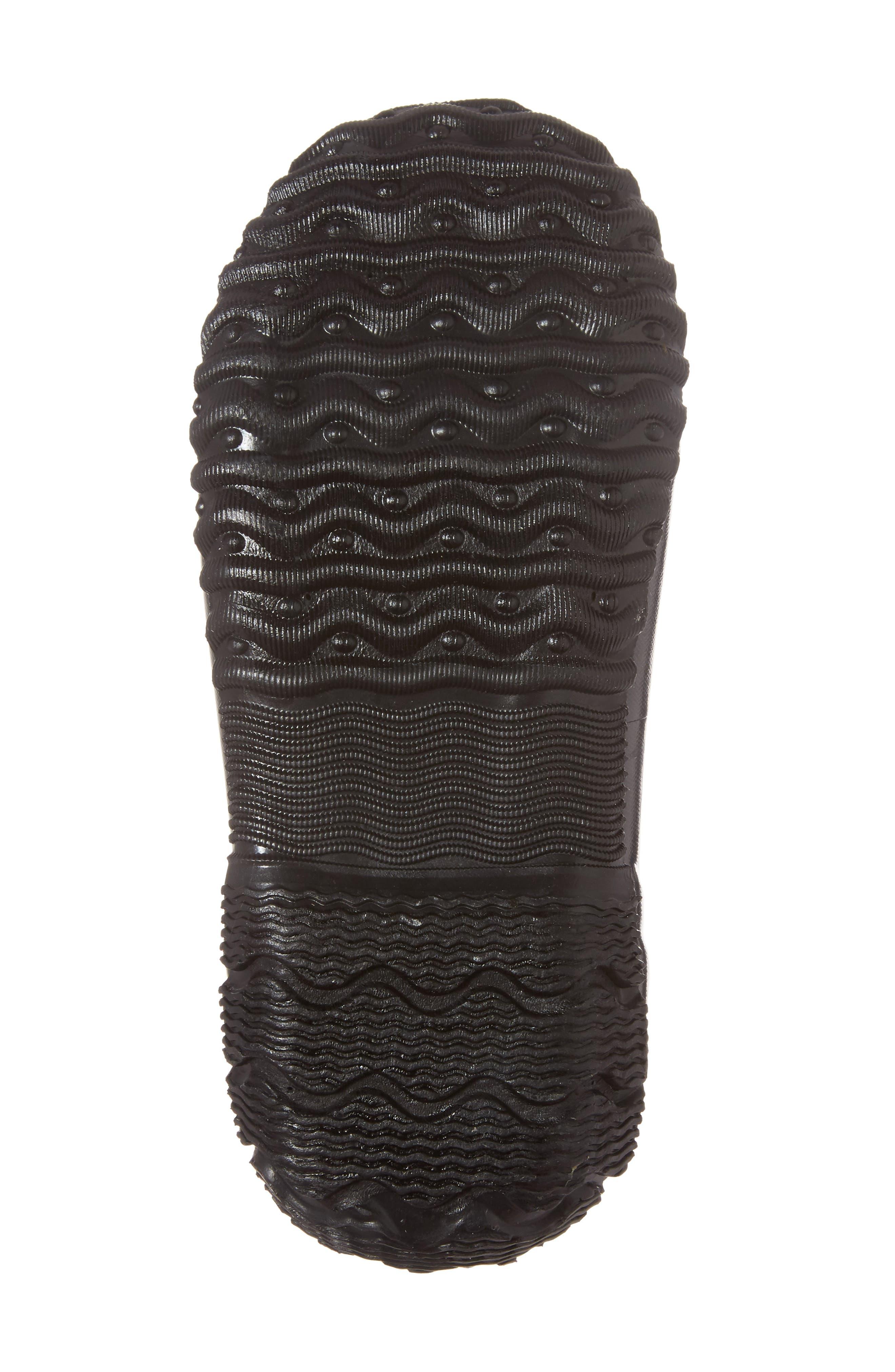 Classic Pansies Insulated Waterproof Rain Boot,                             Alternate thumbnail 6, color,                             BLACK MULTI