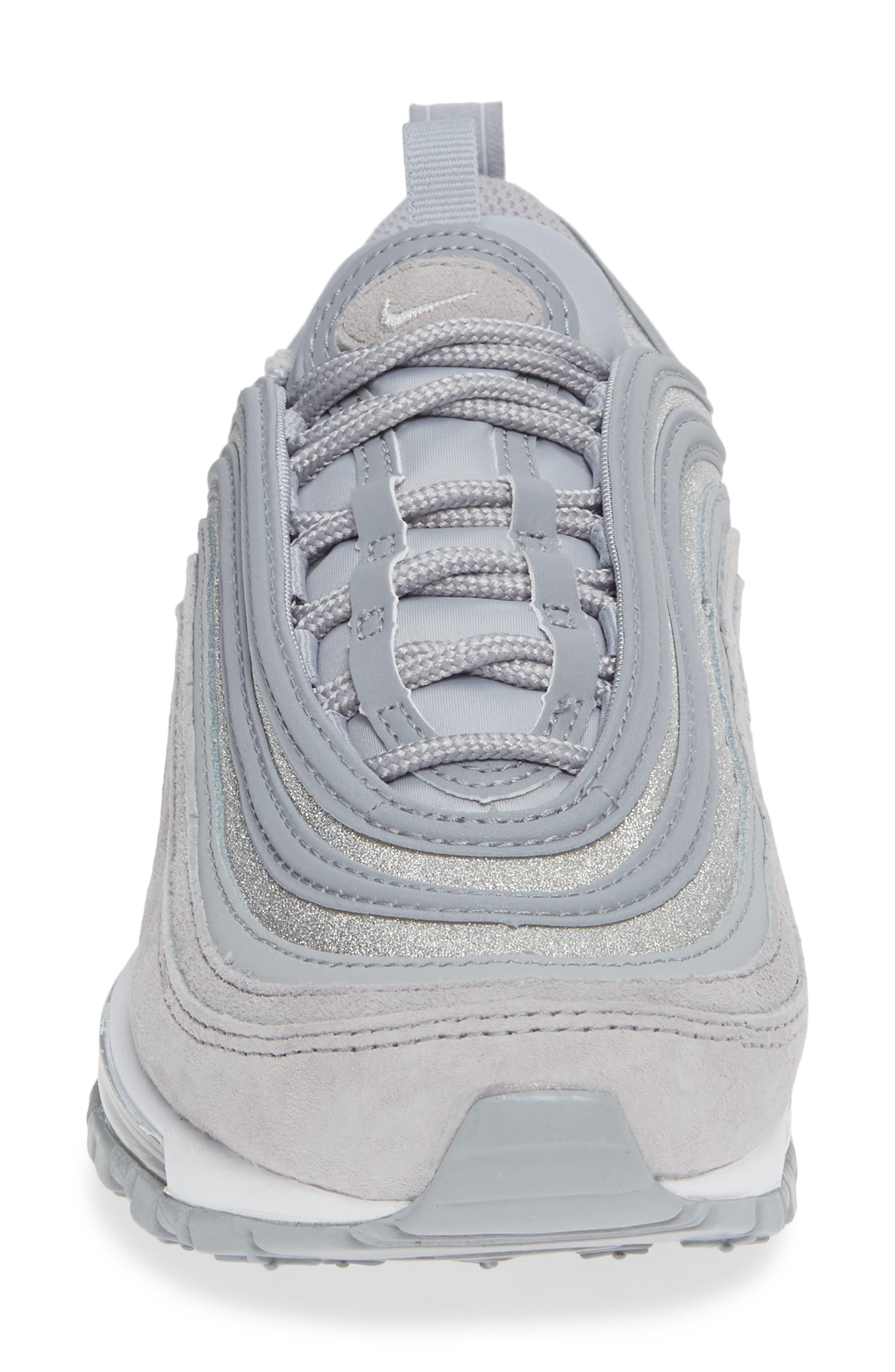 Air Max 97 Sneaker,                             Alternate thumbnail 4, color,                             WOLF GREY/ PLATINUM/ WHITE