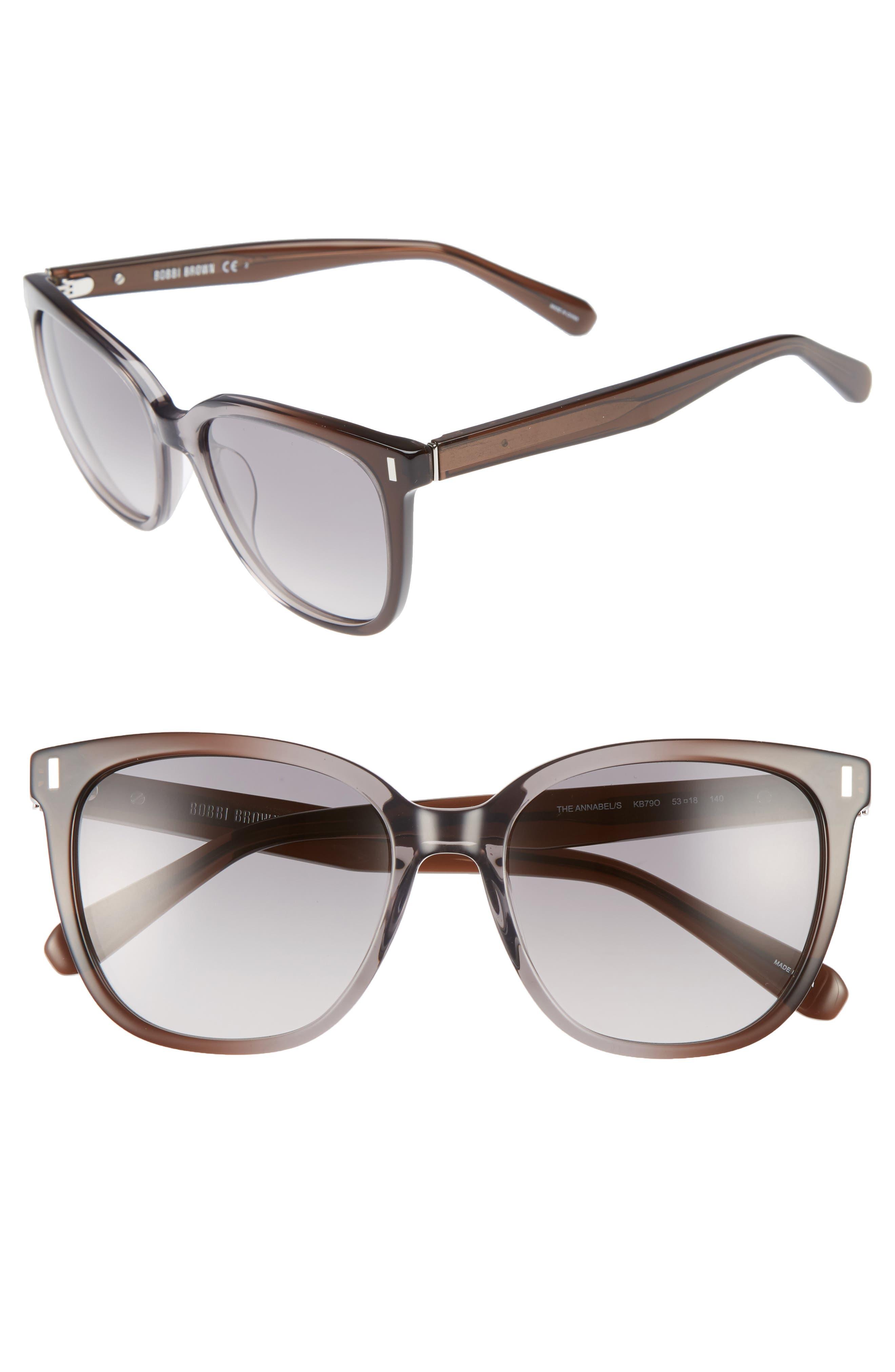 The Annabel 53mm Cat Eye Sunglasses,                             Main thumbnail 1, color,                             020