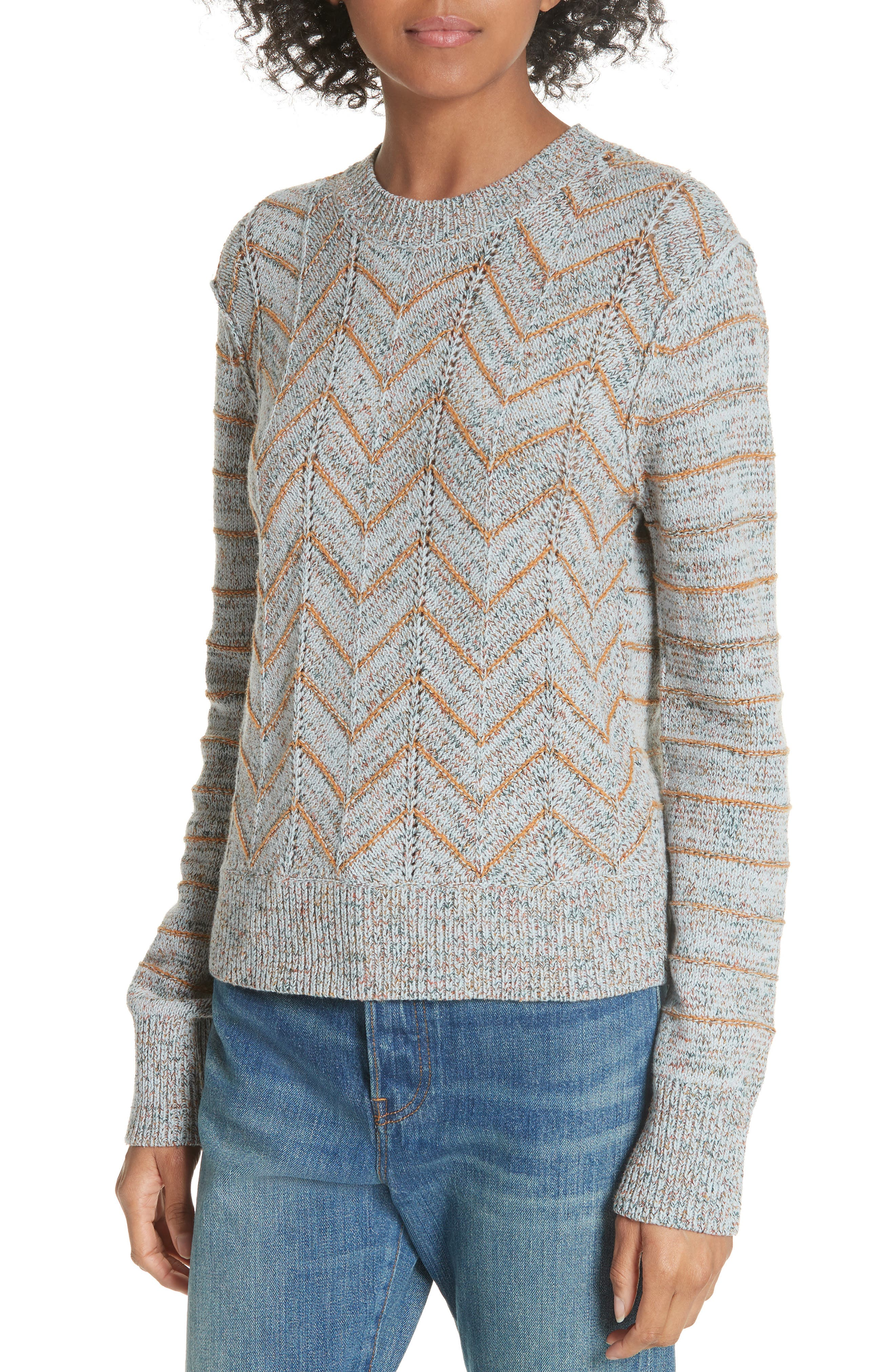 Zigzag Pullover,                             Alternate thumbnail 7, color,