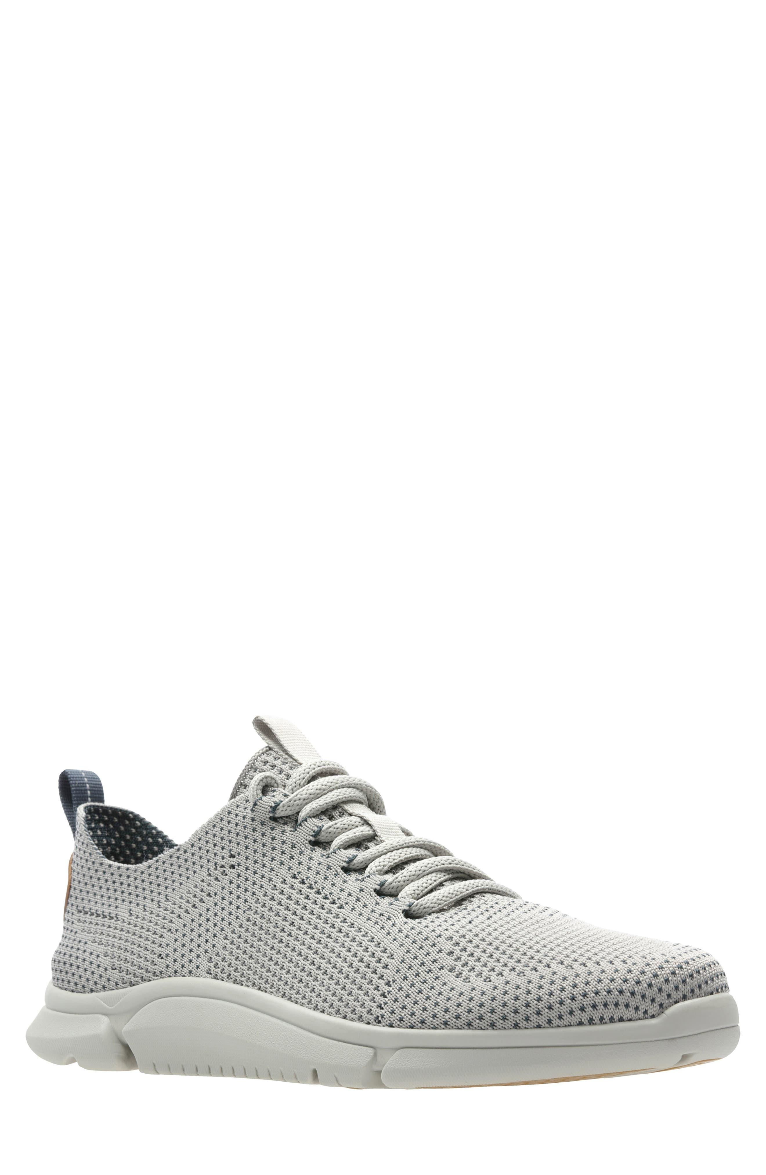 Triken Run Sneaker, Main, color, GREY LEATHER