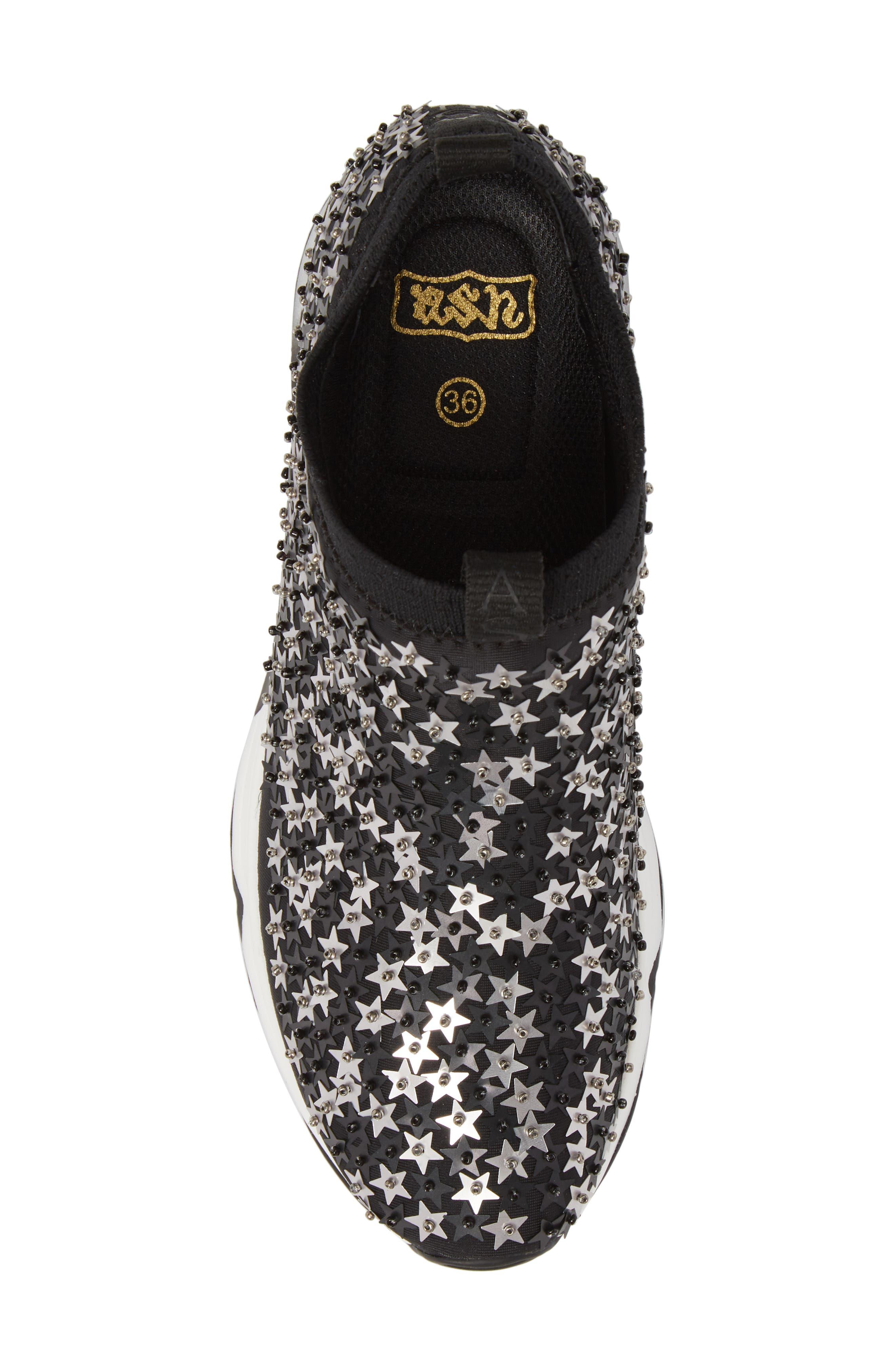 Lighting Star Platform Sock Sneaker,                             Alternate thumbnail 5, color,                             006
