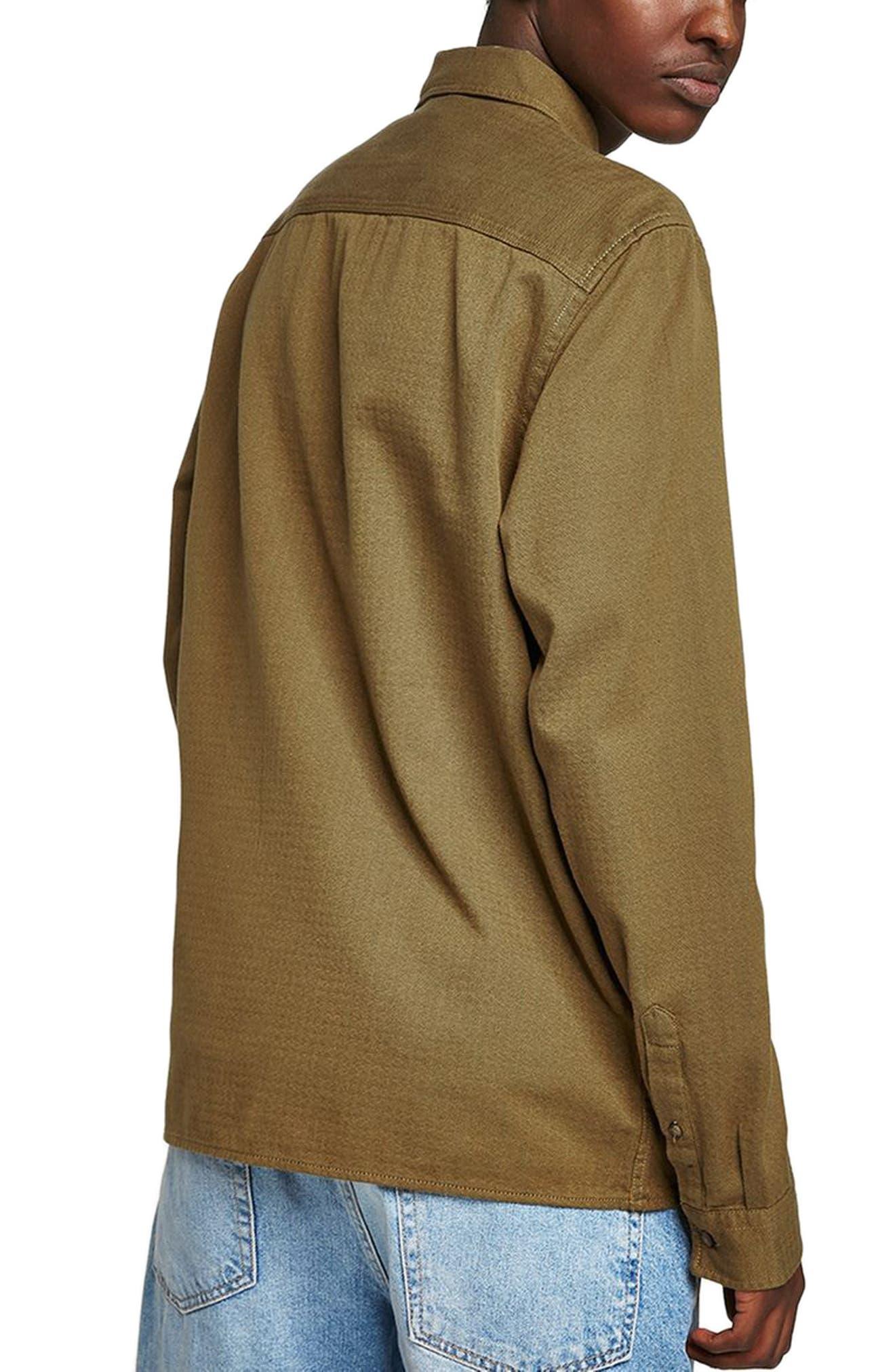 Zip Shirt Jacket,                             Alternate thumbnail 2, color,                             GREEN