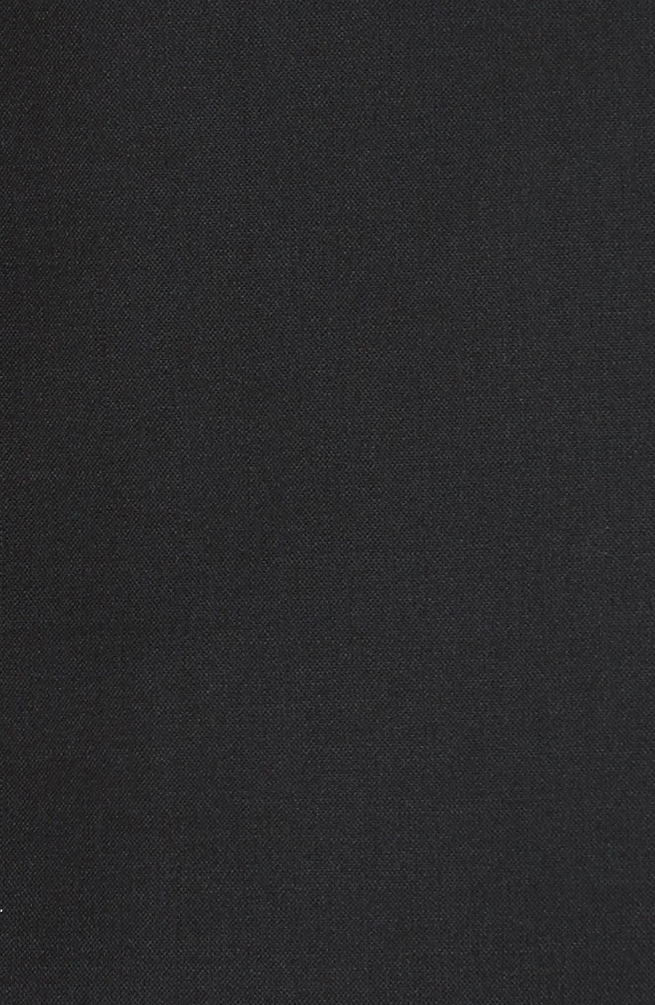 'Classic' Lambswool Blend Single Button Blazer,                             Alternate thumbnail 5, color,                             BLACK
