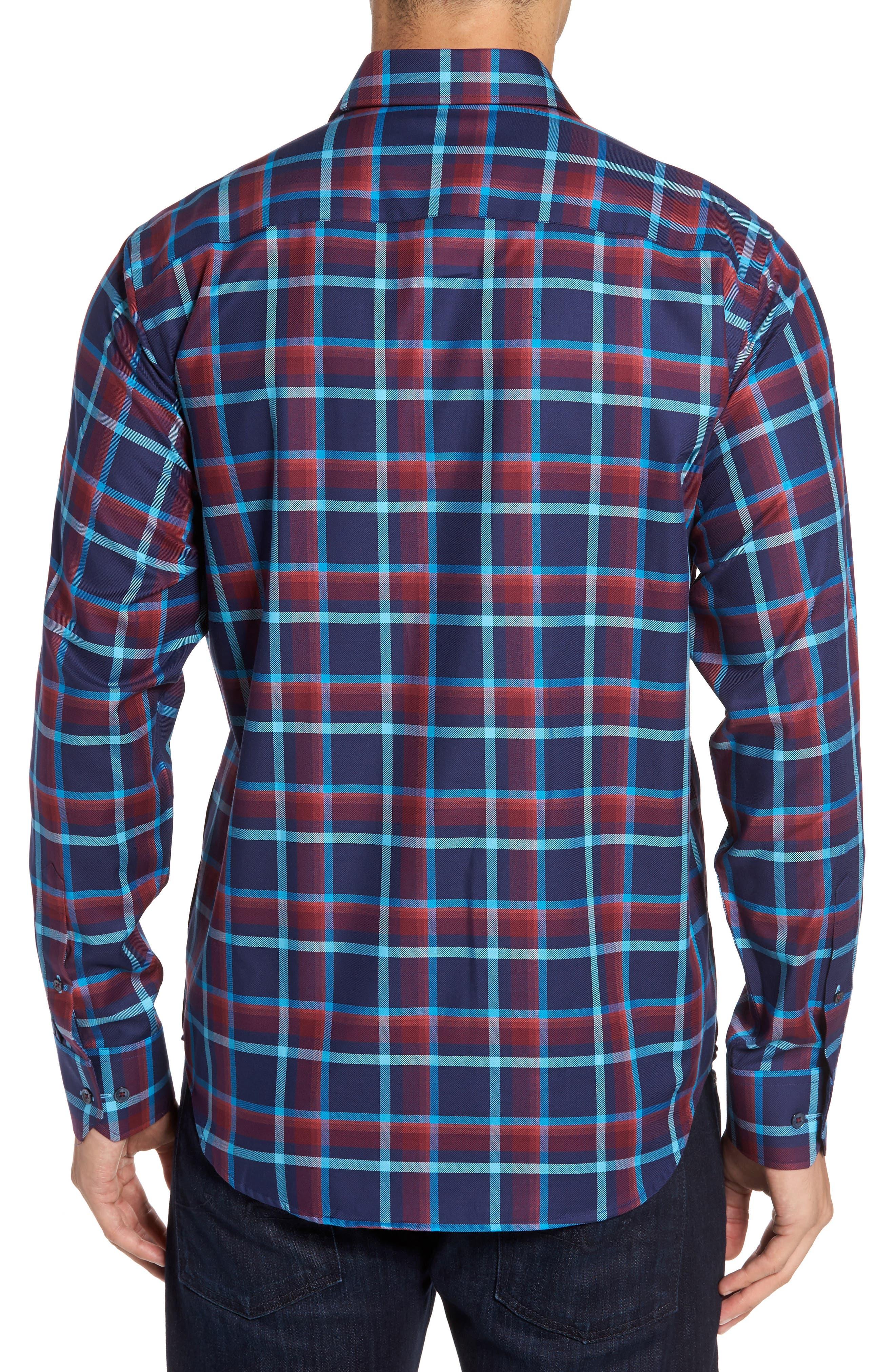 Classic Fit Check Sport Shirt,                             Alternate thumbnail 2, color,                             411