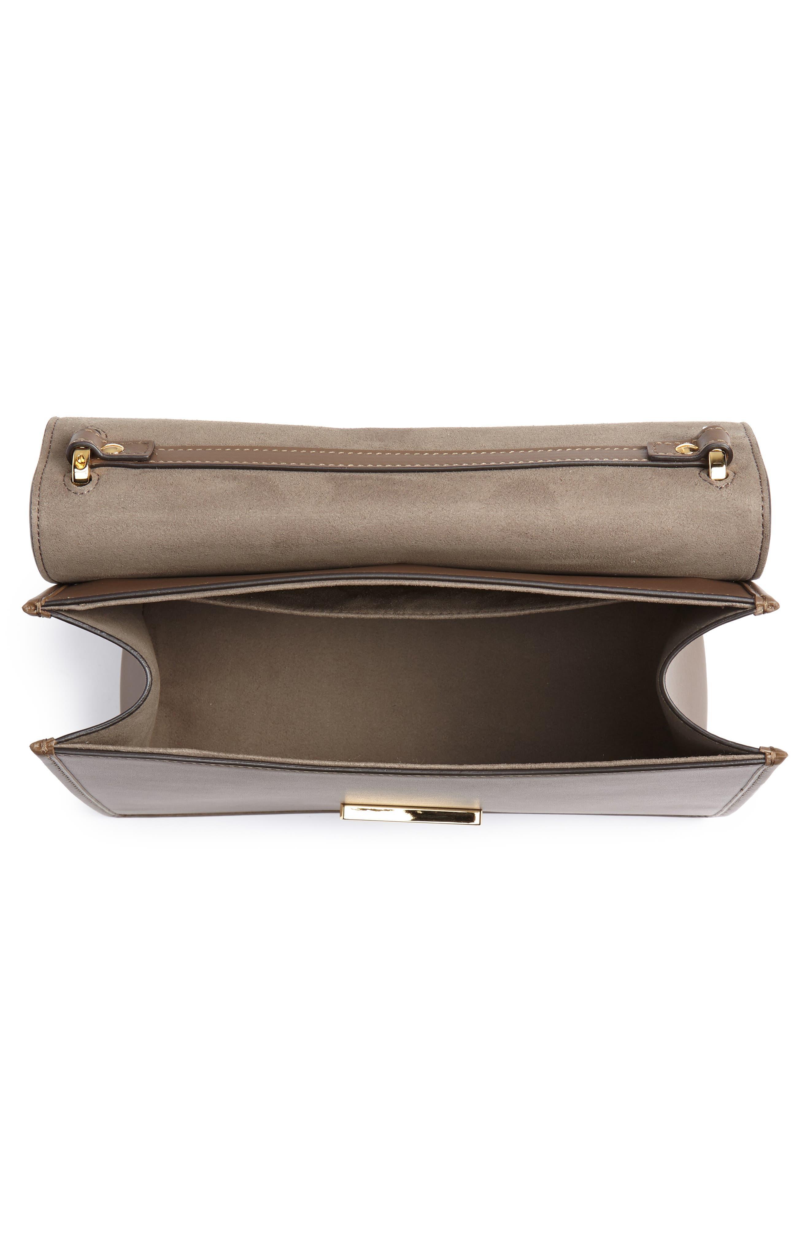 Kan I Calfskin Leather Shoulder Bag,                             Alternate thumbnail 5, color,                             MAYA/ ORO SOFT