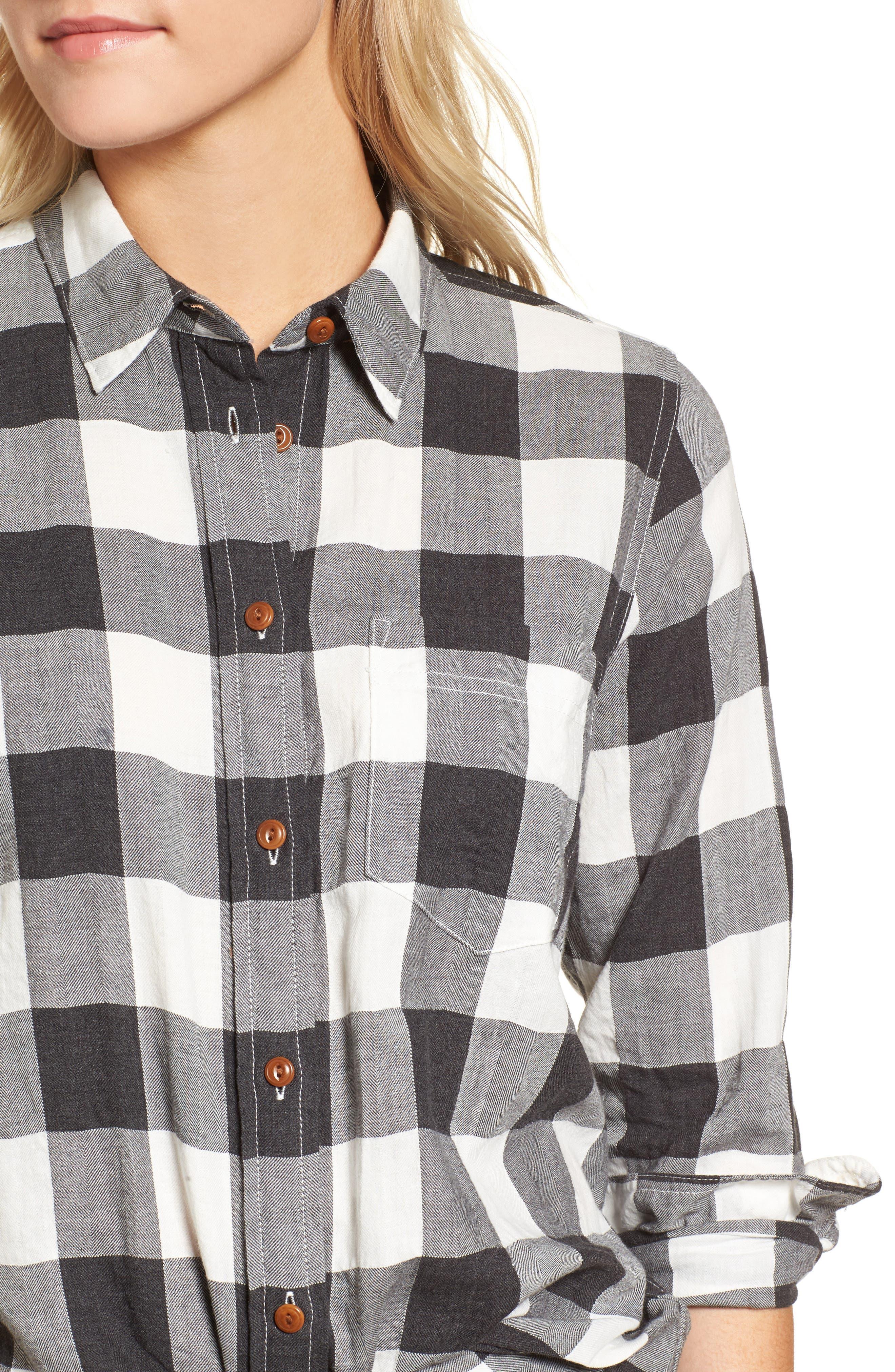 Buffalo Plaid Boy Shirt,                             Alternate thumbnail 4, color,                             090