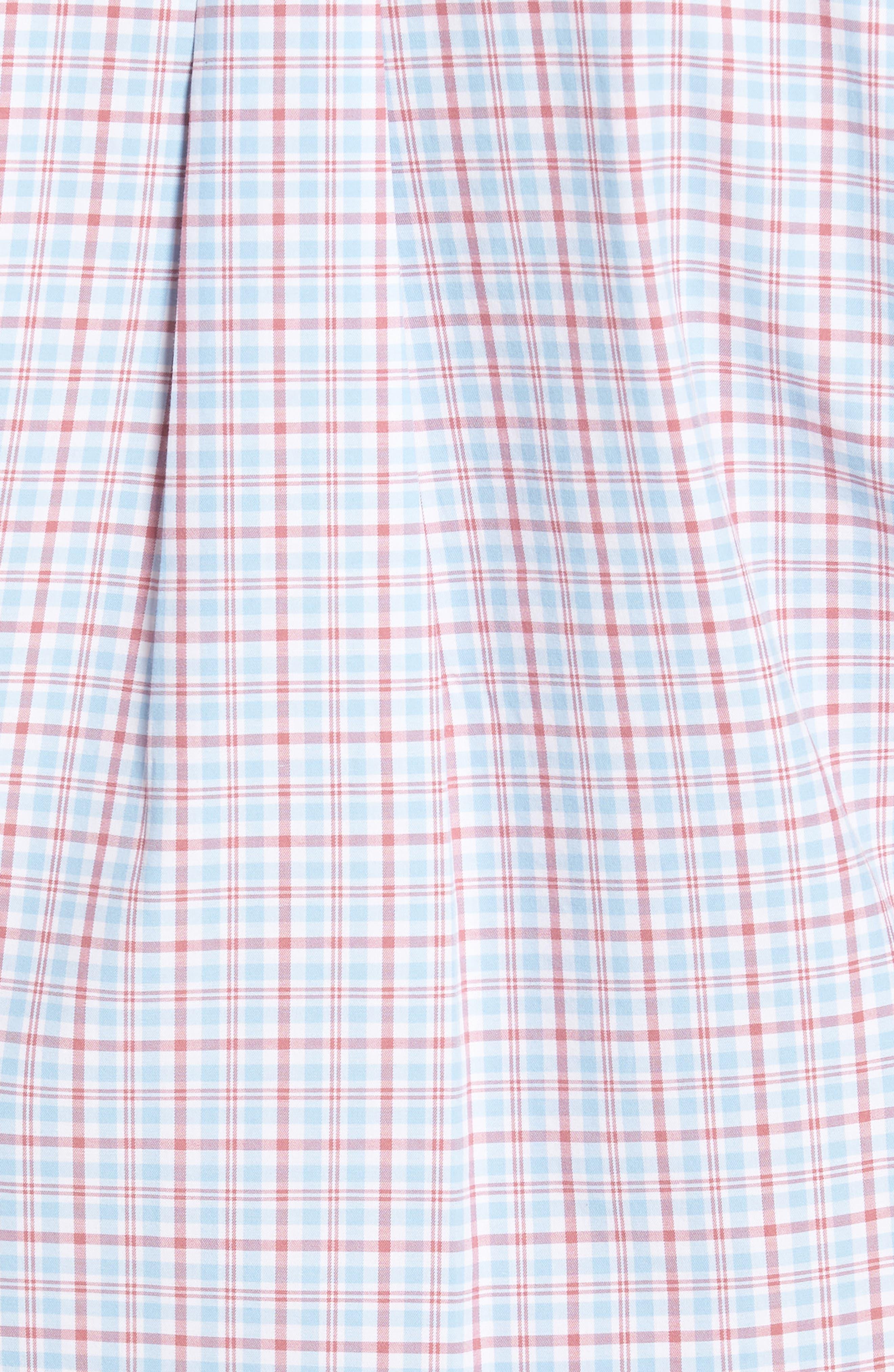 Delridge Regular Fit Tartan Sport Shirt,                             Alternate thumbnail 5, color,                             400