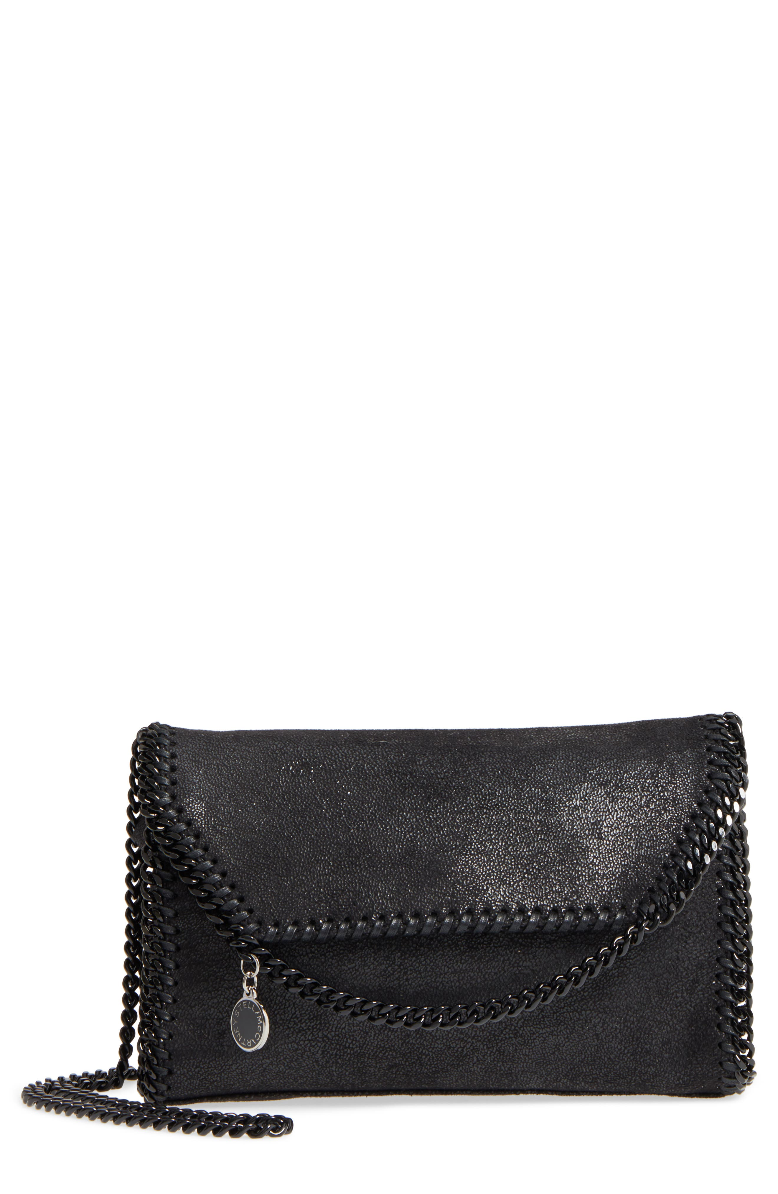 Mini Falabella - Shaggy Deer Faux Leather Crossbody Bag,                             Main thumbnail 1, color,                             001