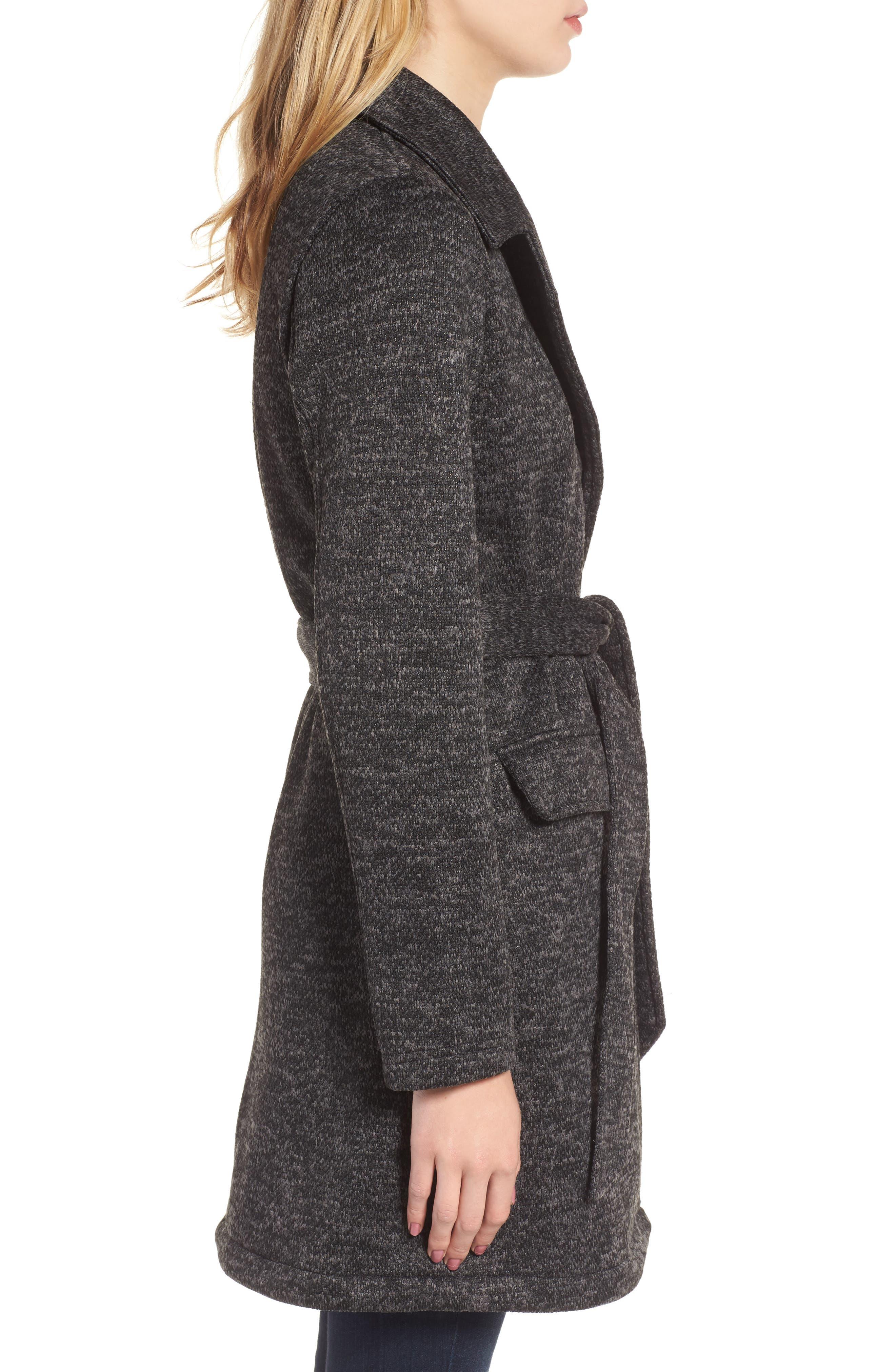 Belted Fleece Jacket,                             Alternate thumbnail 3, color,                             021