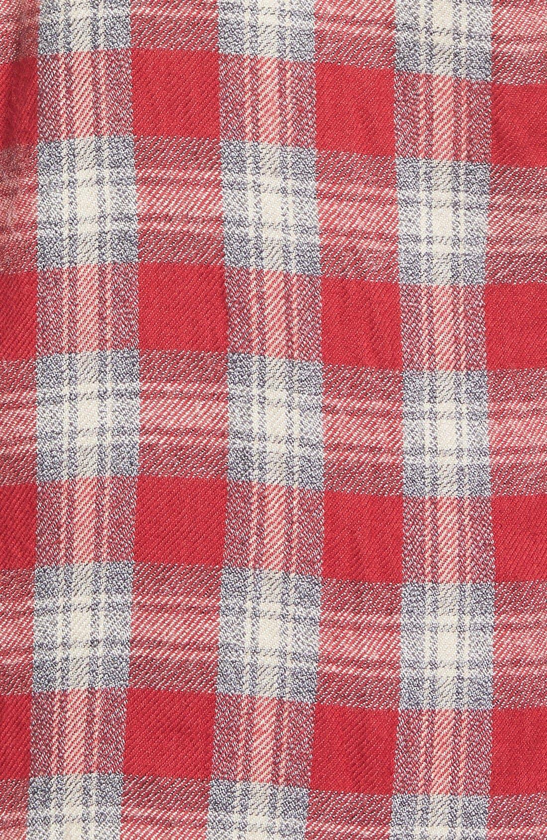 'Fairfax Plaid' Ex-Boyfriend Shirt,                             Alternate thumbnail 3, color,                             600