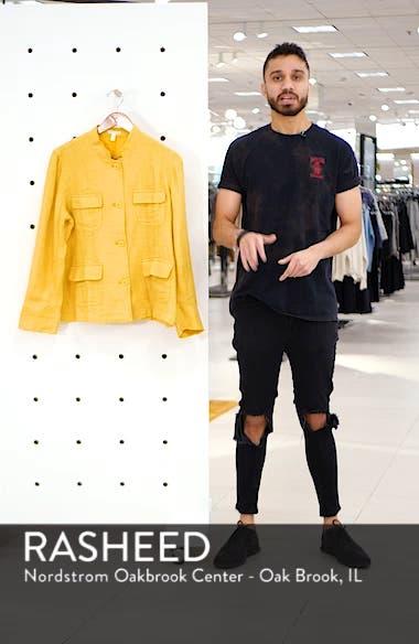 Organic Linen Utility Jacket, sales video thumbnail