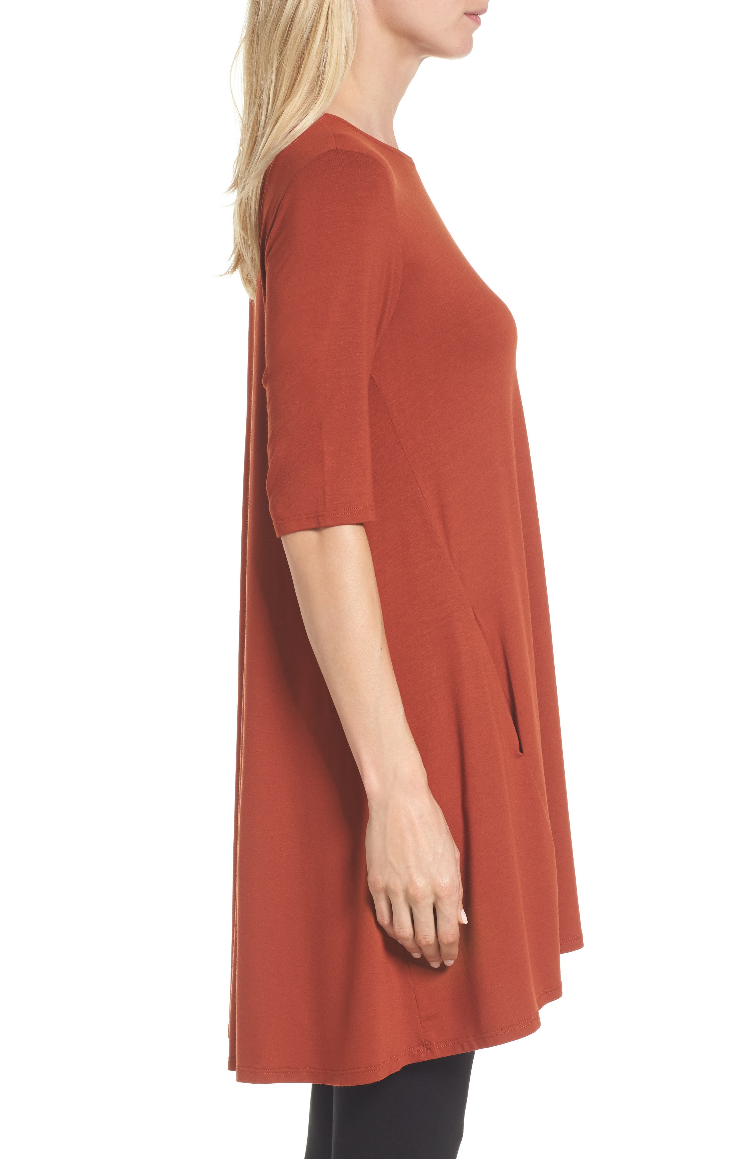 Lightweight Jersey Round Neck Tunic,                             Alternate thumbnail 17, color,