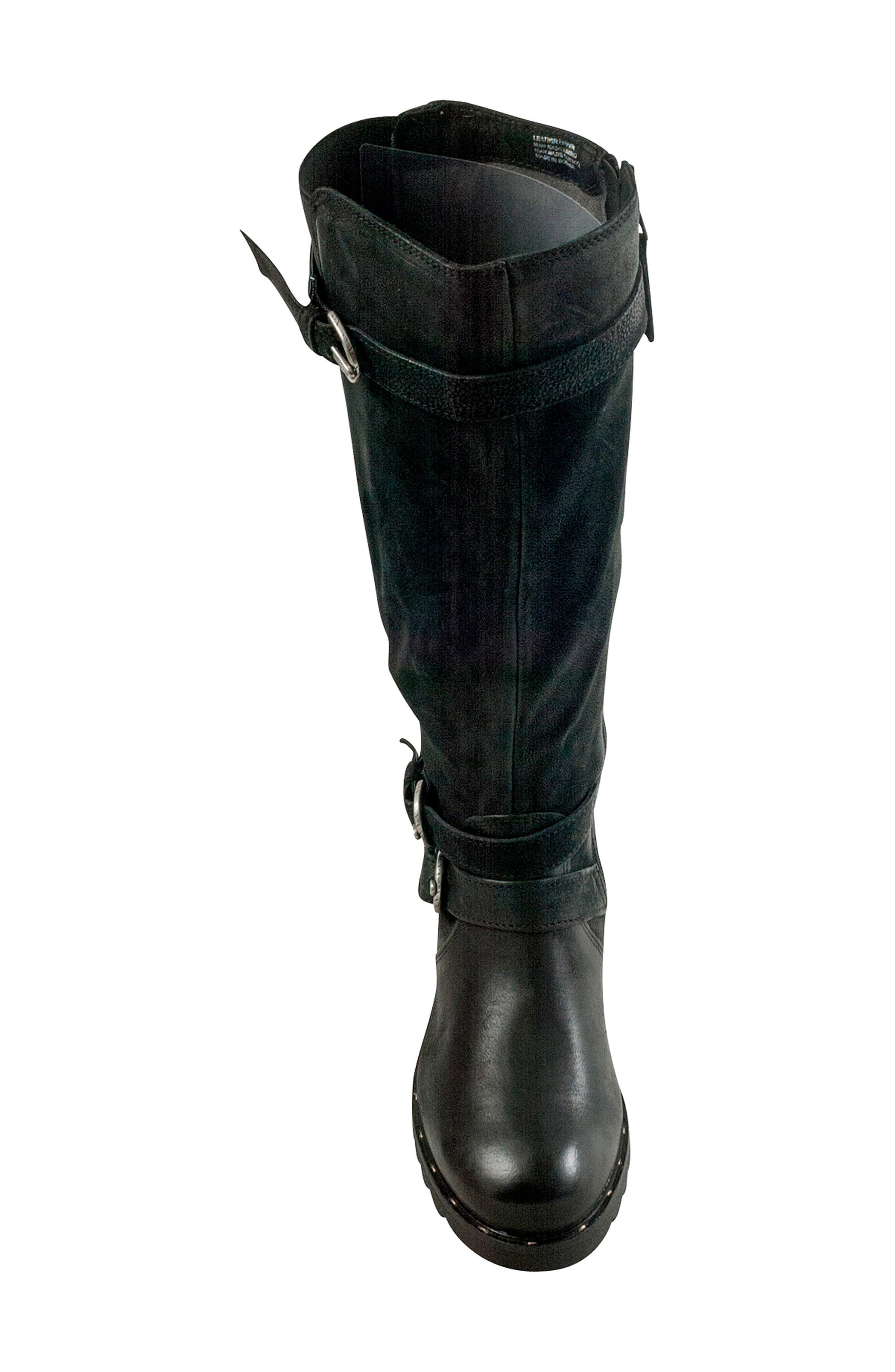 Prim Knee High Boot,                             Alternate thumbnail 5, color,                             BLACK LEATHER