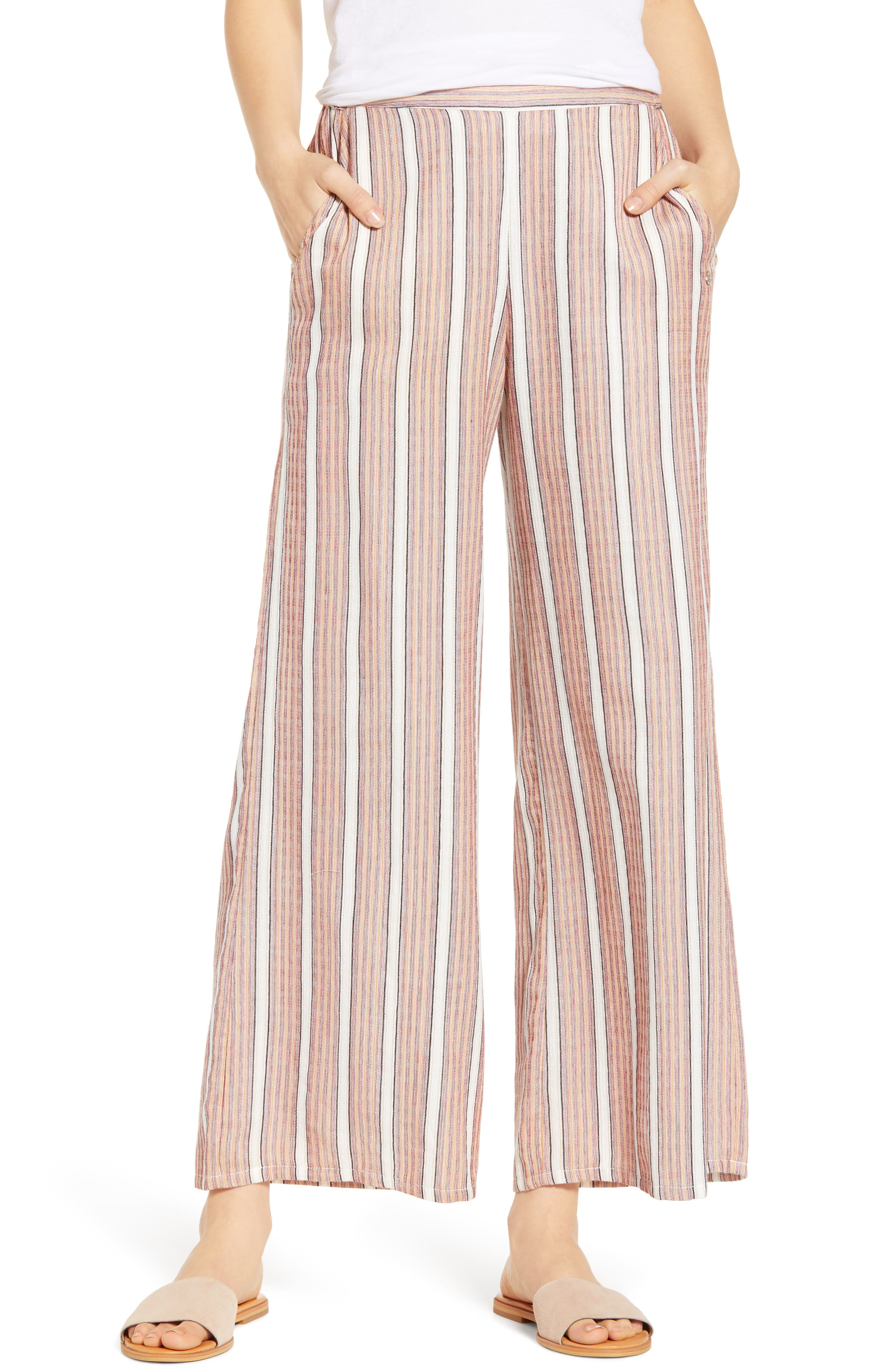 Midnight Avenue Stripe Pants,                             Main thumbnail 1, color,                             AMERICAN BEAUTY MULTI STRIPES