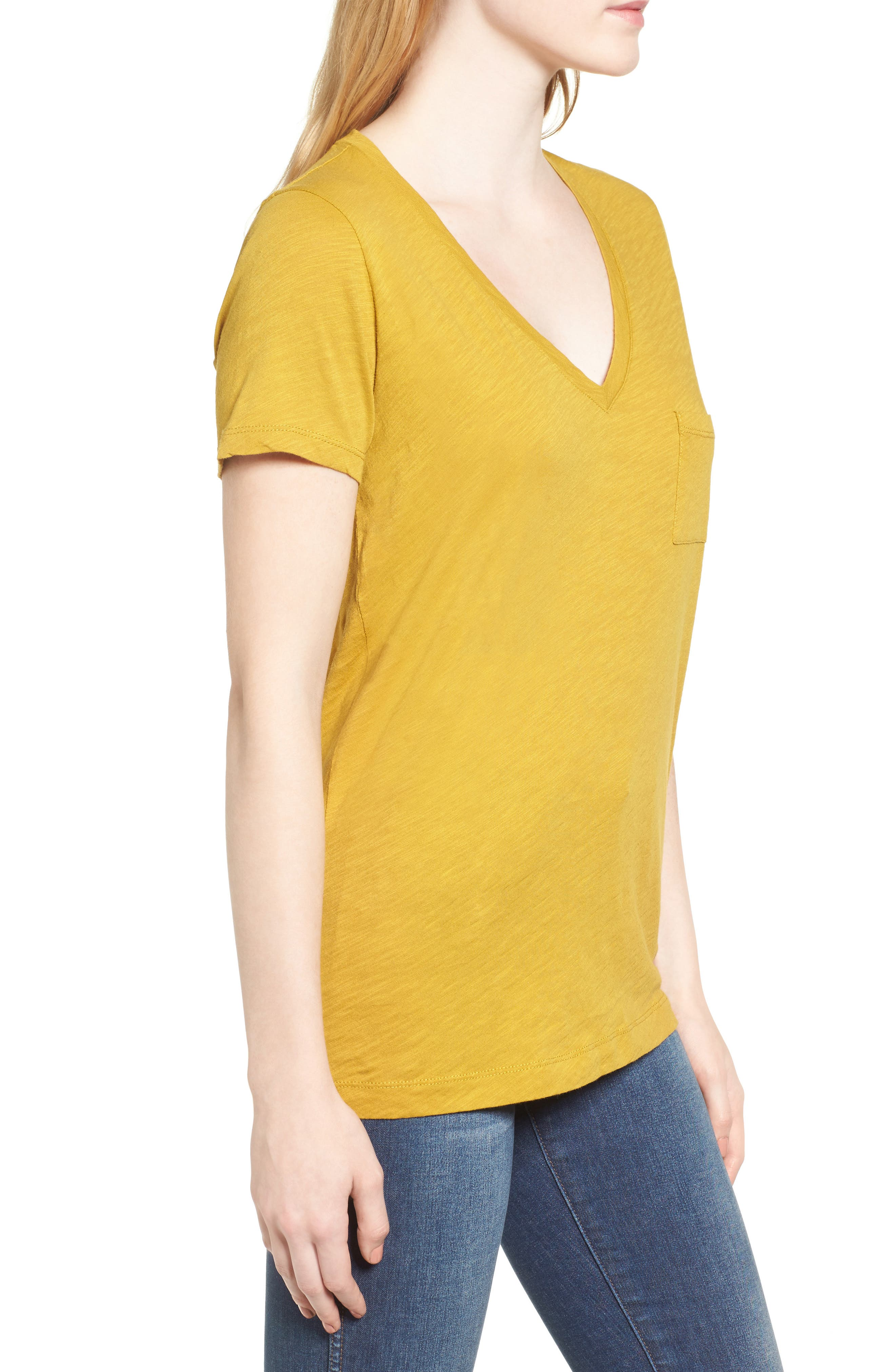 Whisper Cotton V-Neck Pocket Tee,                             Alternate thumbnail 126, color,