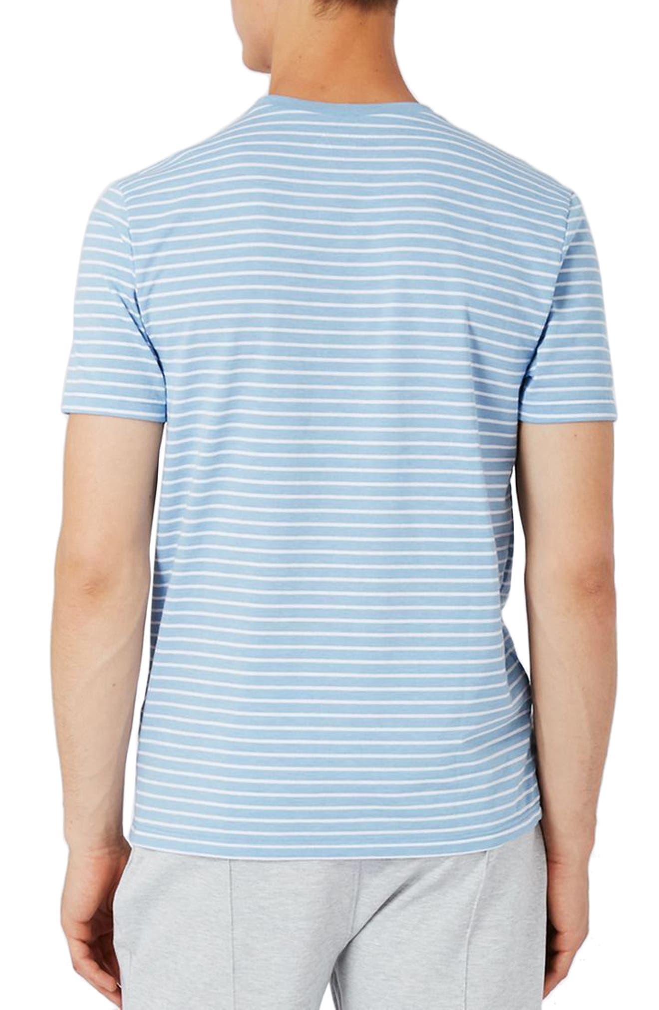 Crewneck Stripe T-Shirt,                             Alternate thumbnail 2, color,                             450