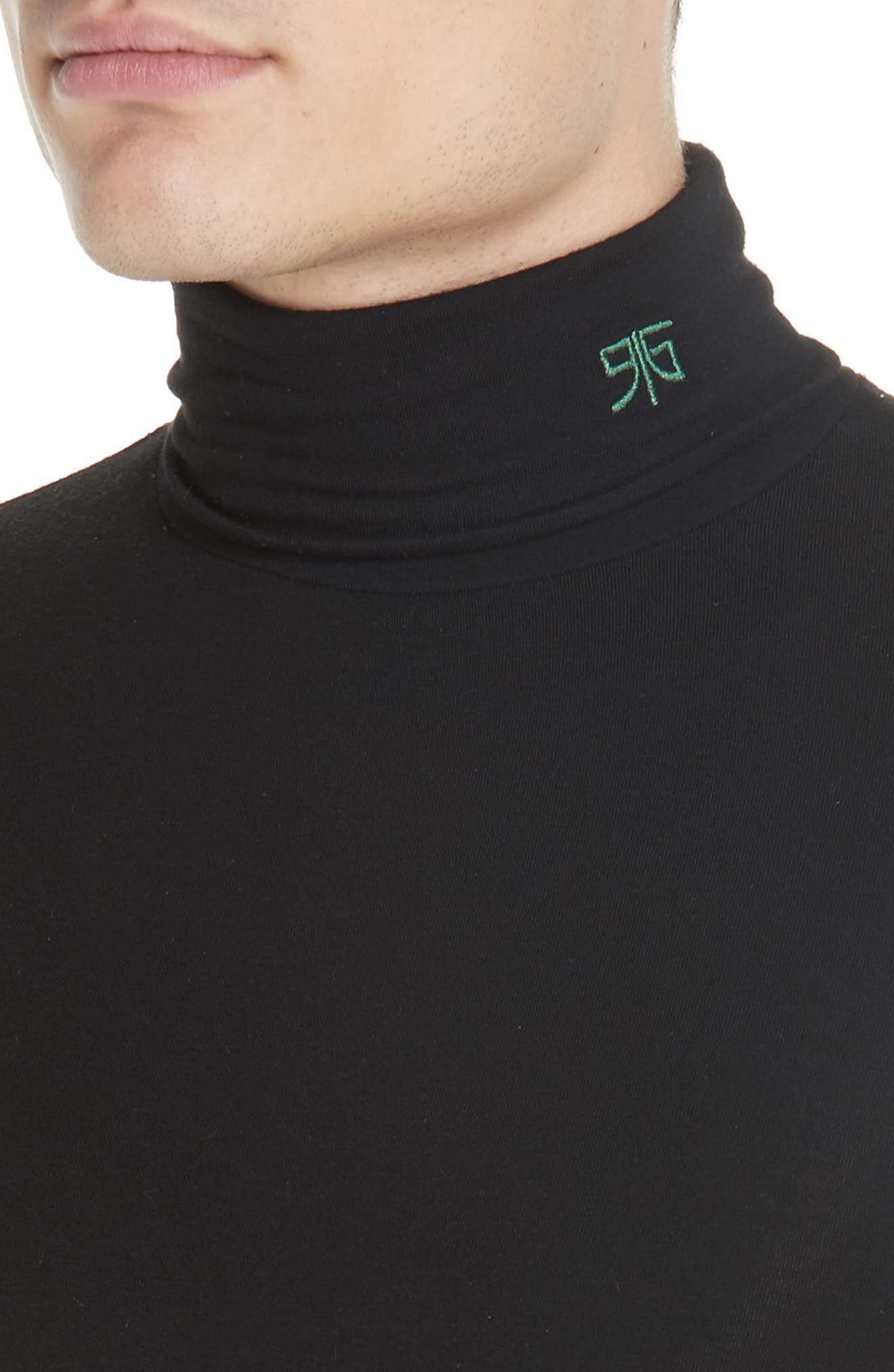 Turtleneck Sweater,                             Alternate thumbnail 4, color,                             BLACK