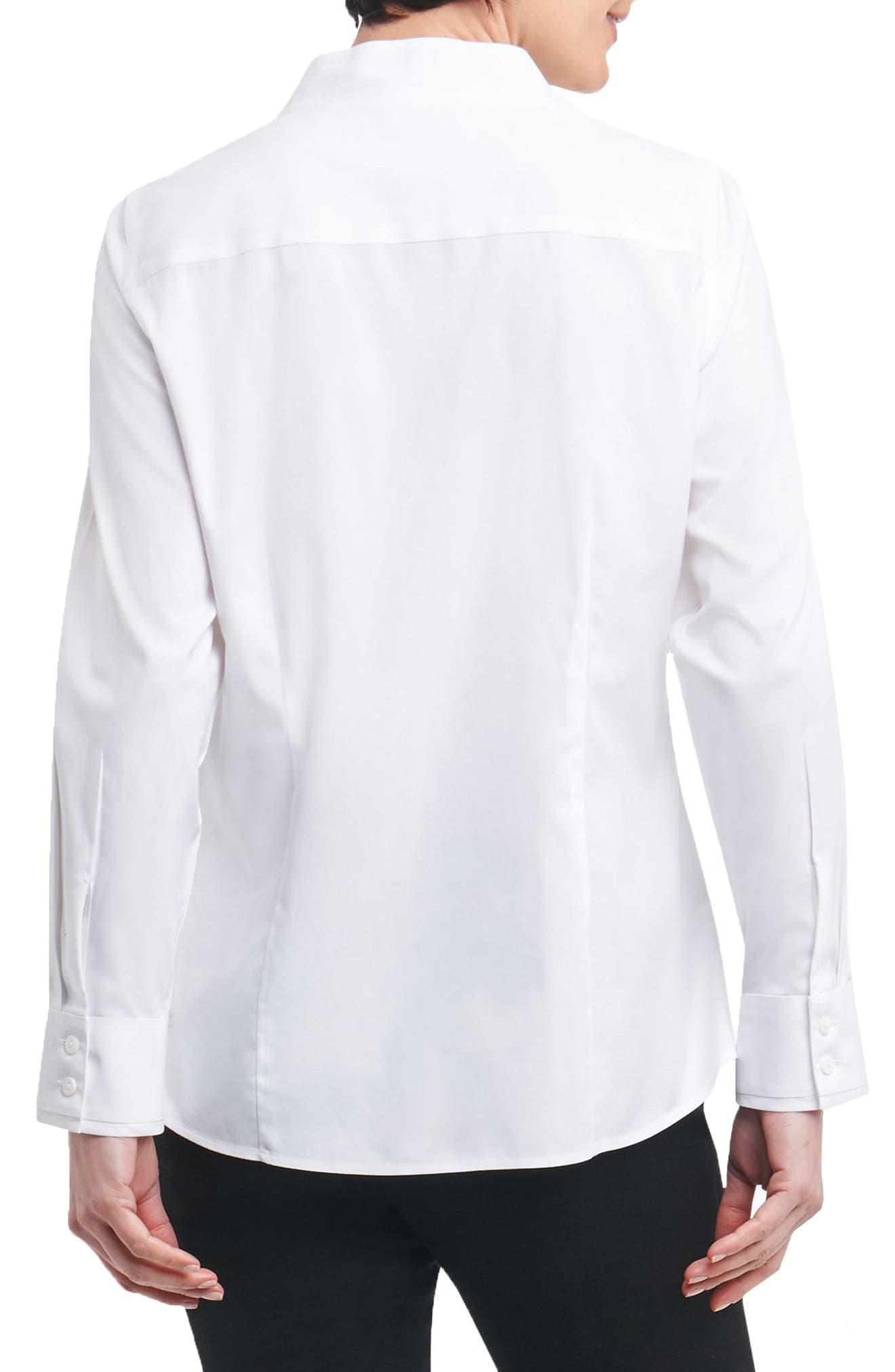 Jewel Stretch Cotton Shirt,                             Alternate thumbnail 2, color,                             100