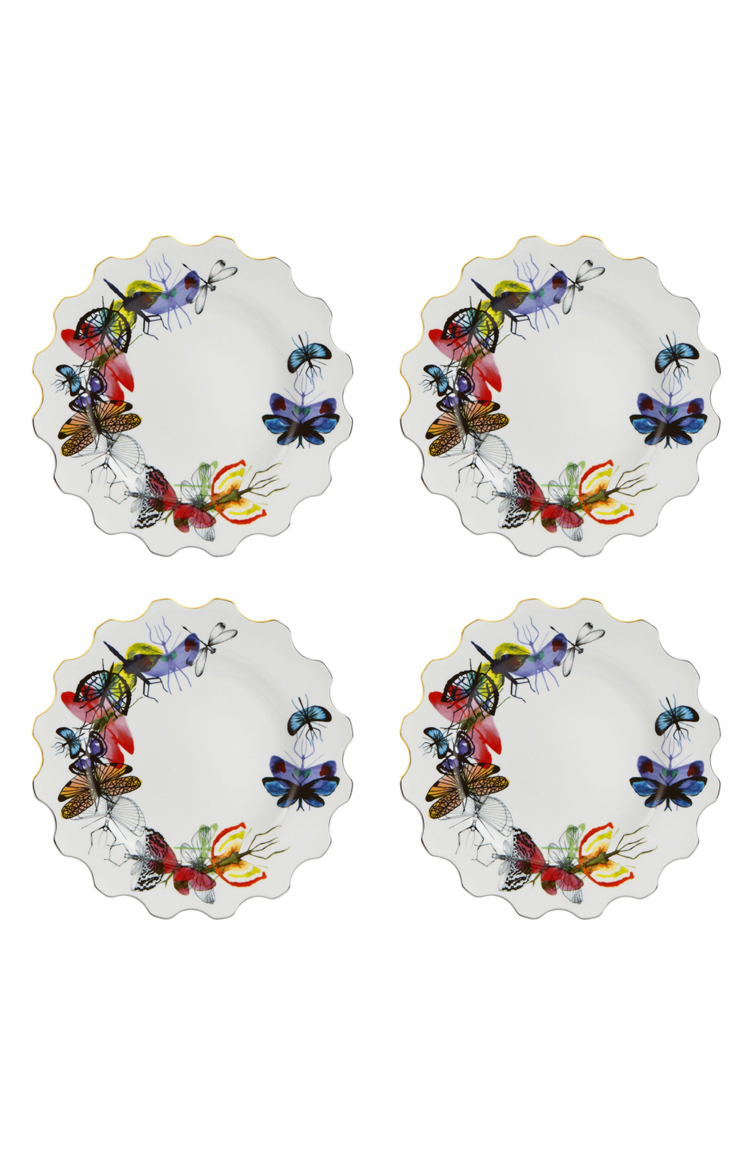 CHRISTIAN LACROIX,                             Caribe Set of 4 Dinner Plates,                             Main thumbnail 1, color,                             100