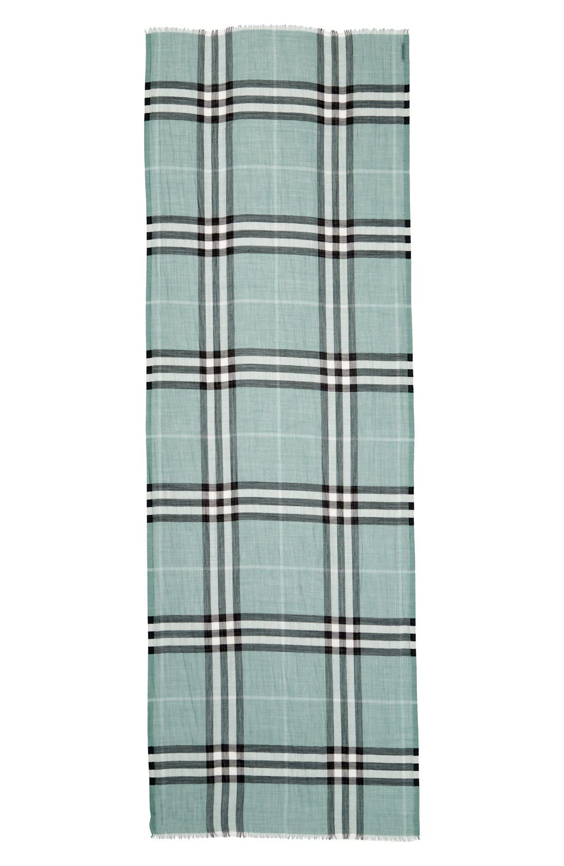 Giant Check Print Wool & Silk Scarf,                             Alternate thumbnail 101, color,