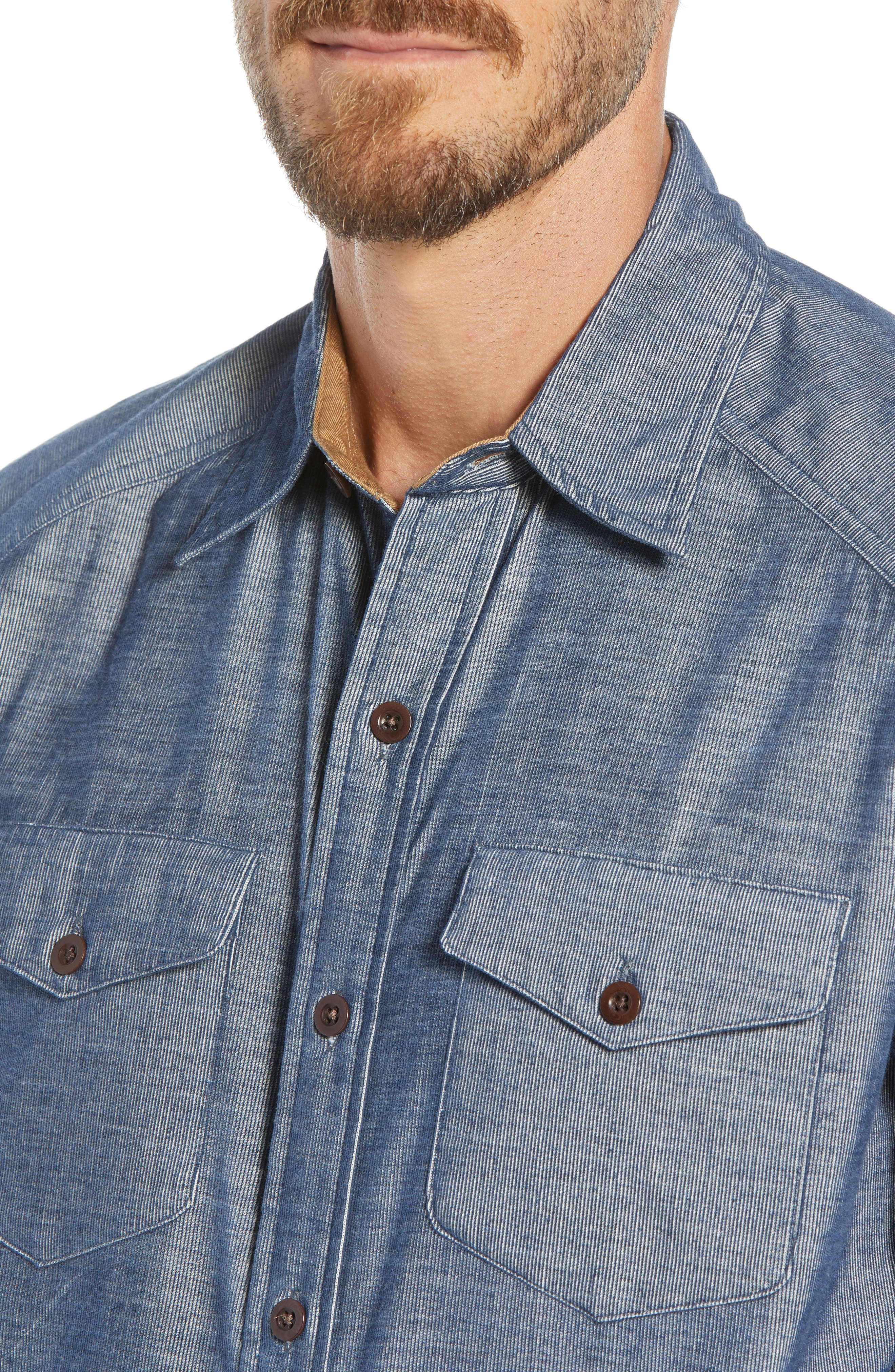 John Addison Engineer Shirt,                             Alternate thumbnail 2, color,                             BLUE HEATHER
