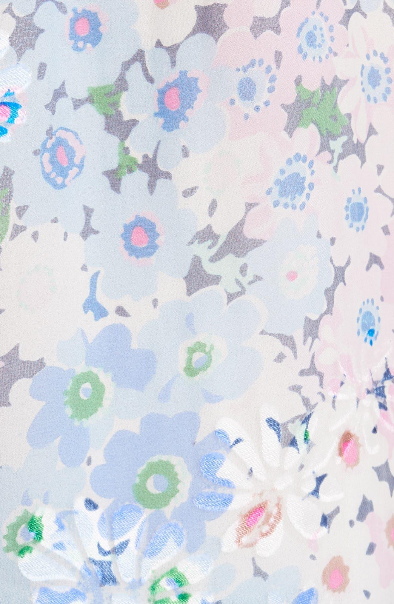 daisy garden devore silk blend top,                             Alternate thumbnail 5, color,                             474