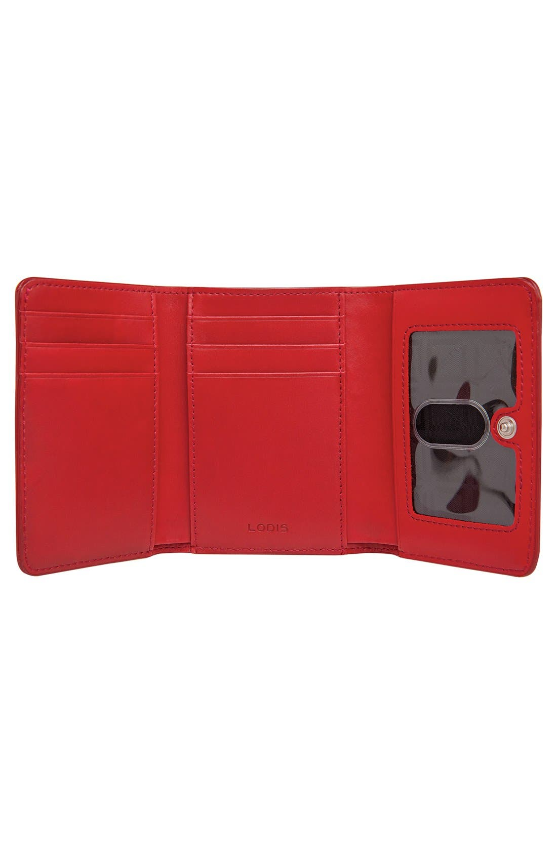 Lodis 'Audrey - Mallory' Leather French Wallet,                             Alternate thumbnail 3, color,                             001