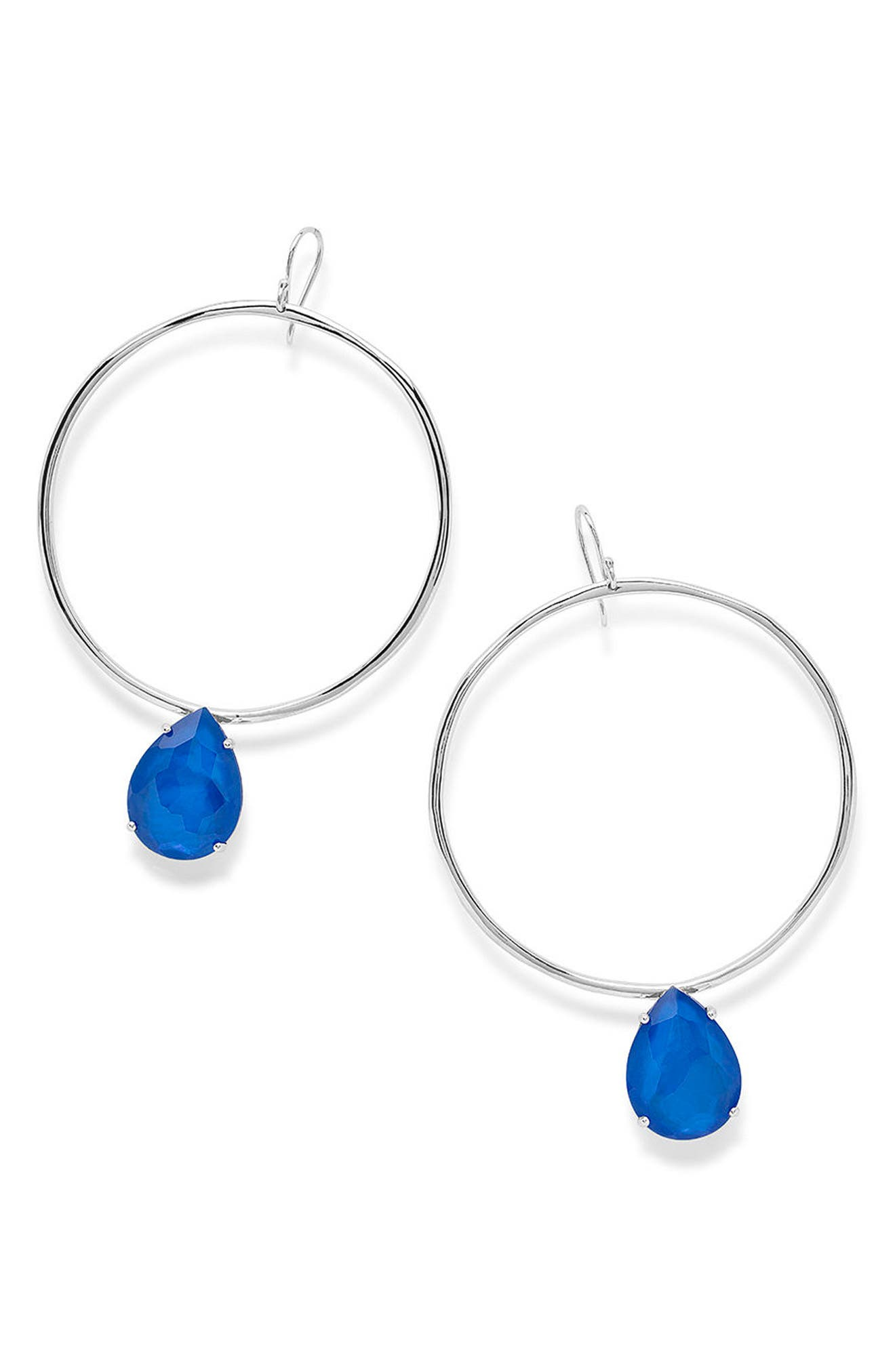Wonderland Large Frontal Hoop Earrings,                         Main,                         color, 400