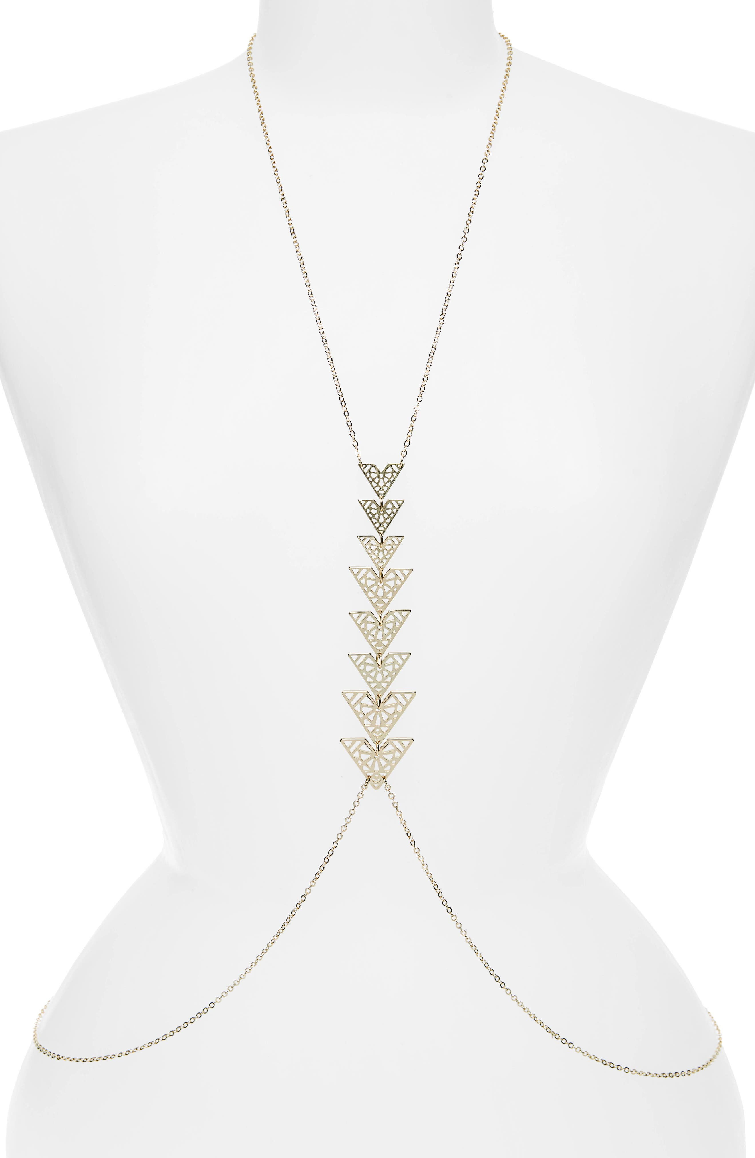 Triangle Body Chain,                             Main thumbnail 1, color,                             710