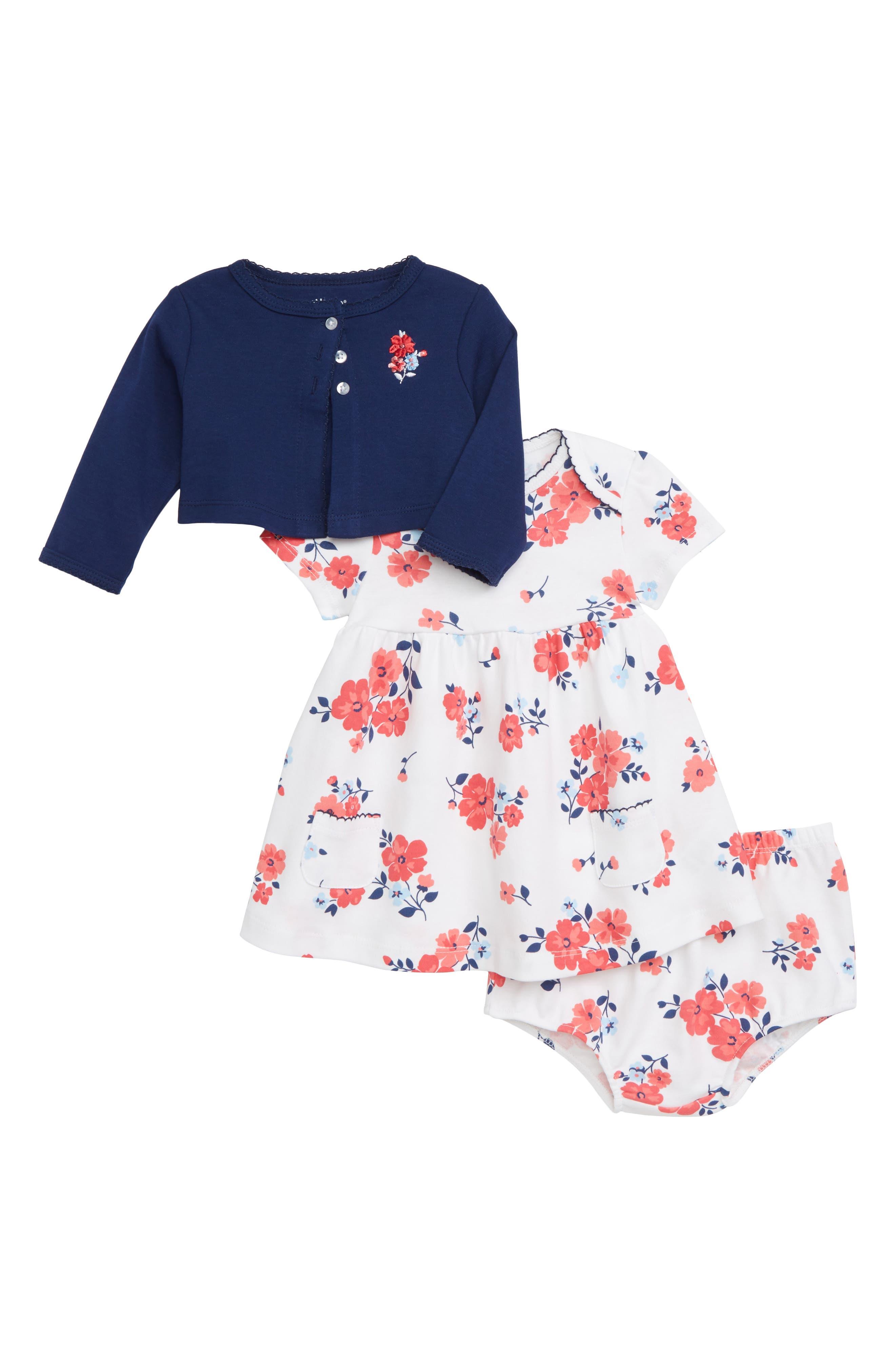 LITTLE ME Floral Dress Set, Main, color, FLORAL