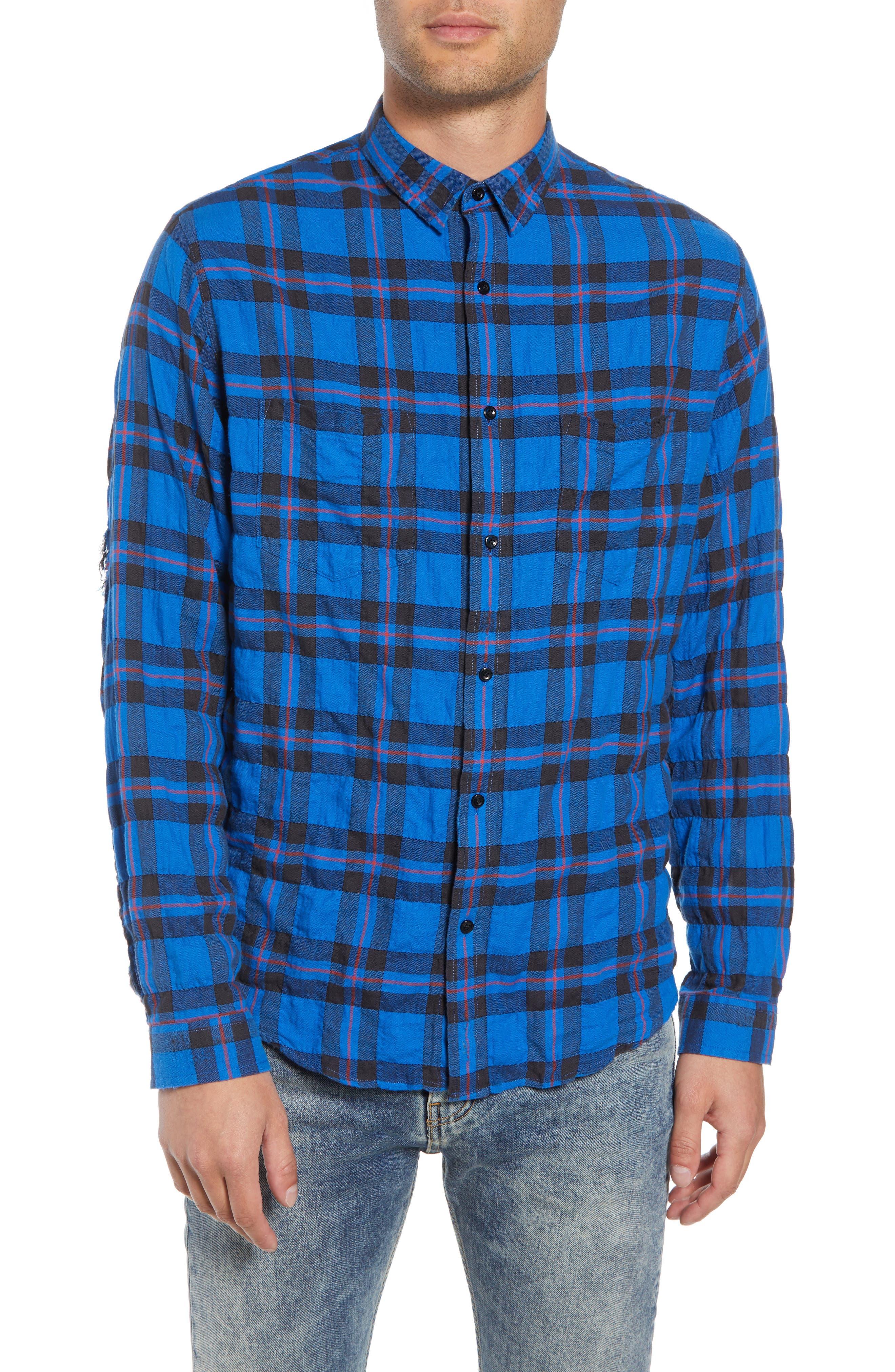 Regular Fit Plaid Sport Shirt,                         Main,                         color, 430